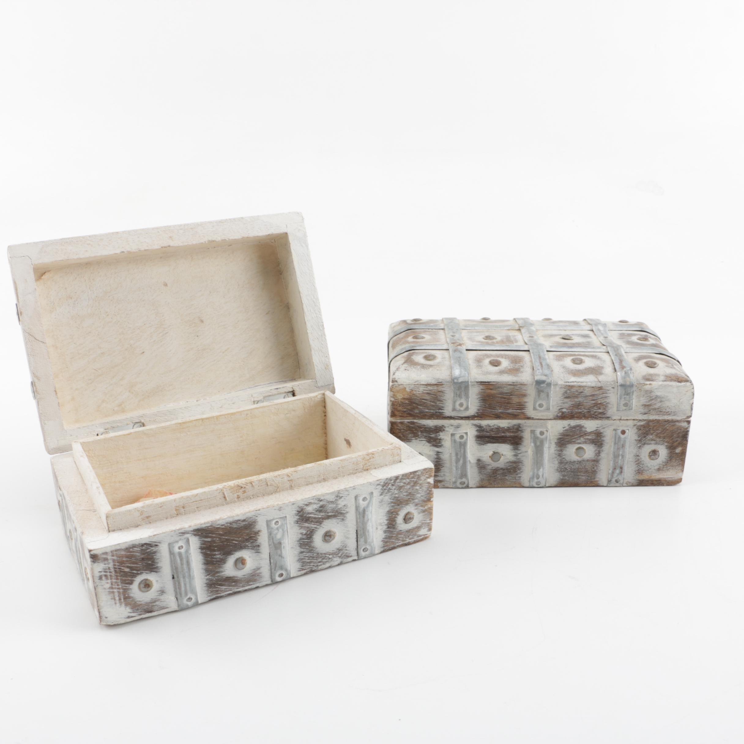 Wooden Trinket Boxes