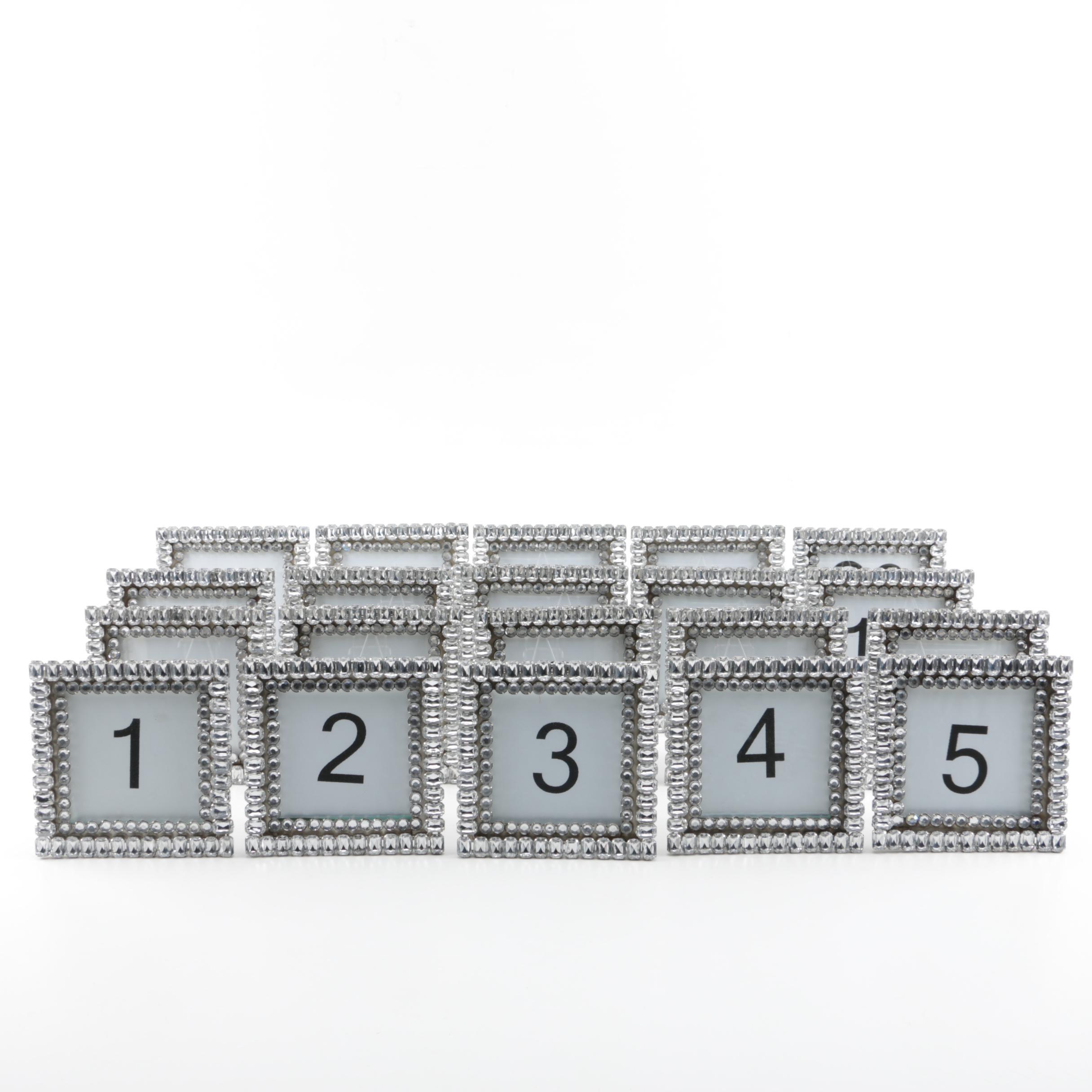 Rhinestone Framed Table Numbers