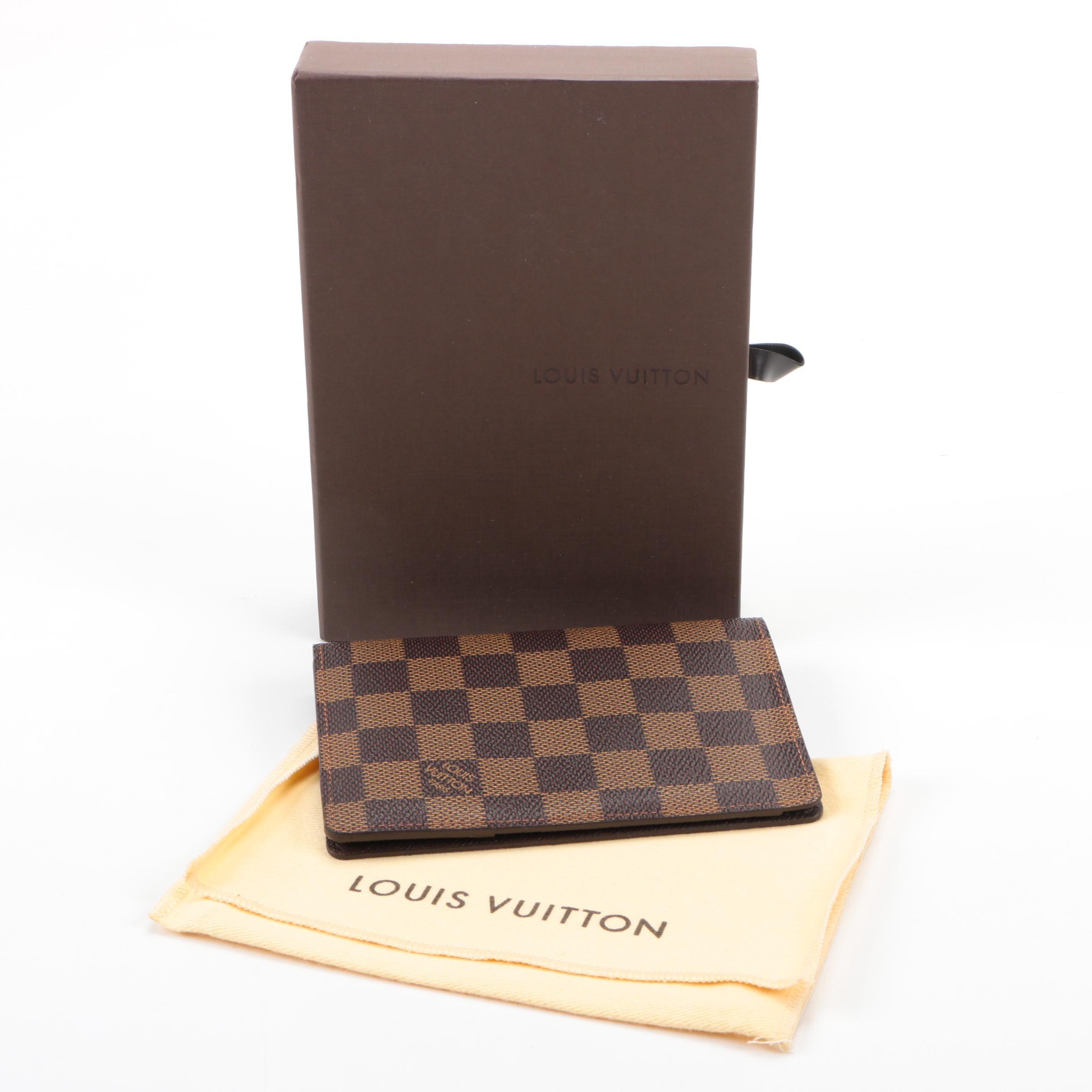 Louis Vuitton Damier Ebene Canvas Passport Holder