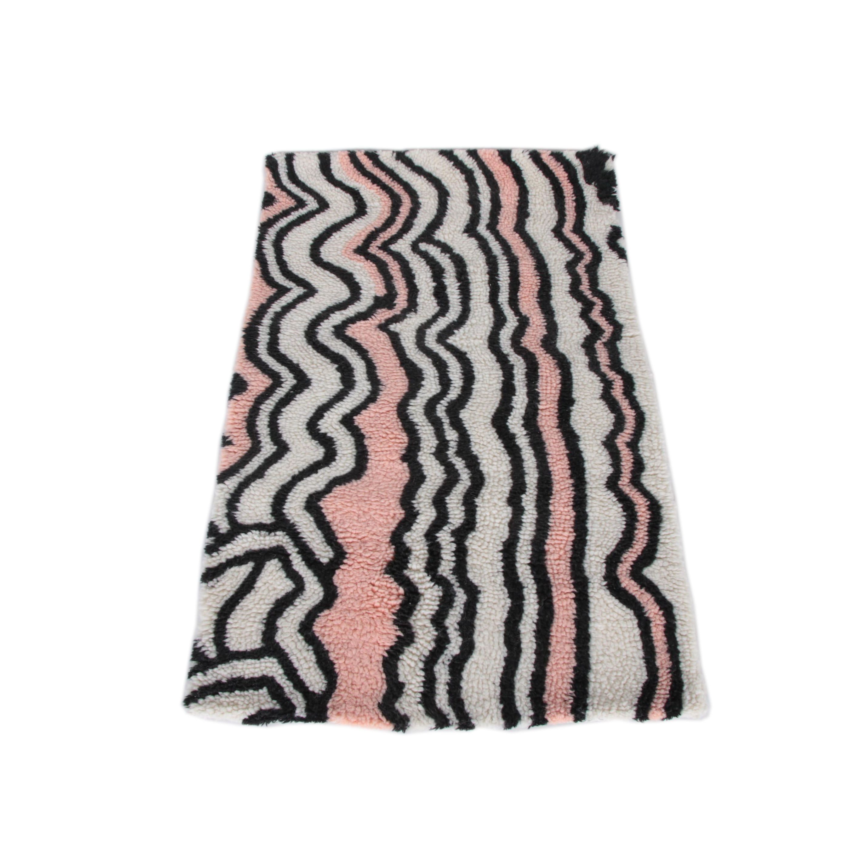 Tufted Wool Striped Accent Rug