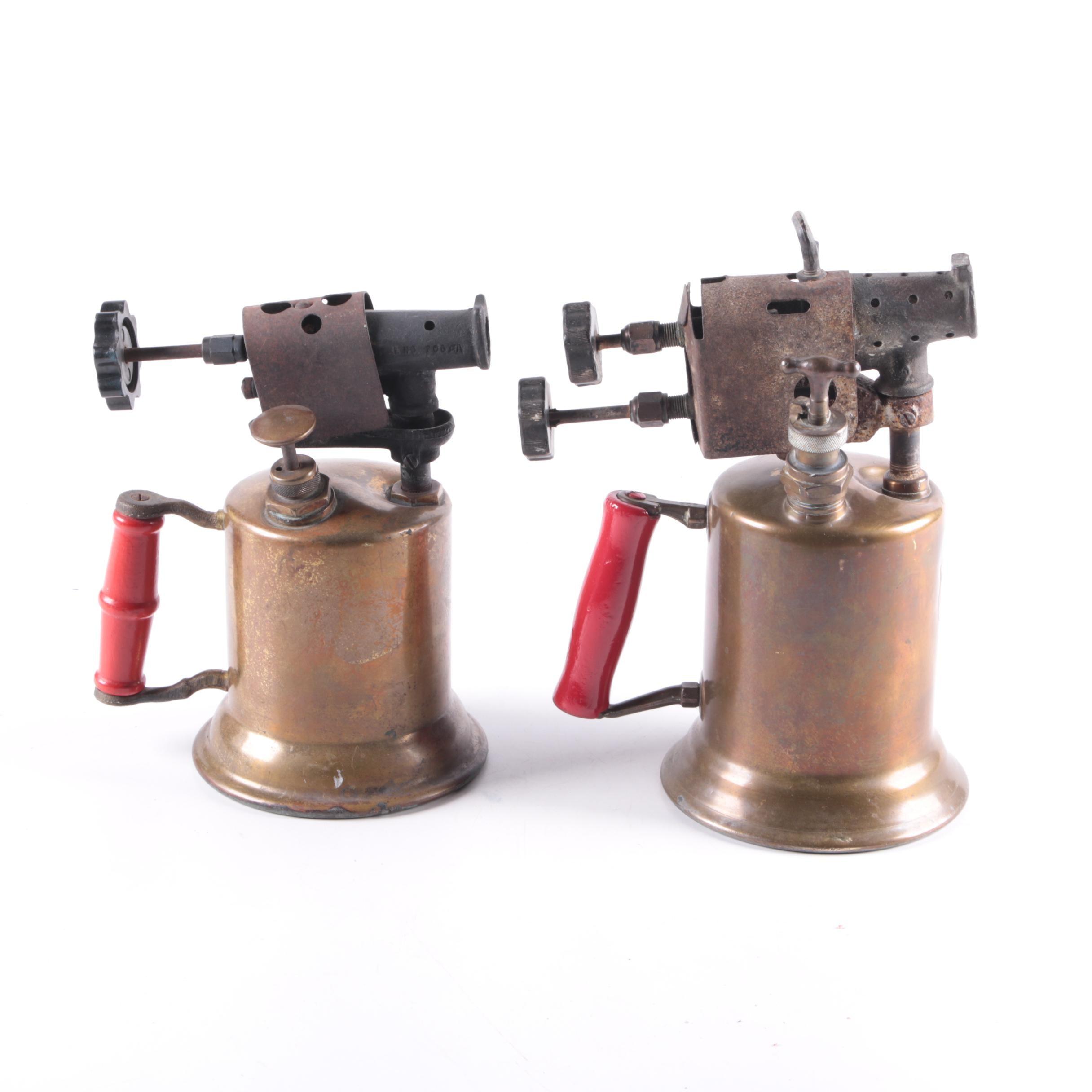 Vintage Clayton & Lambert Brass Blow Torches