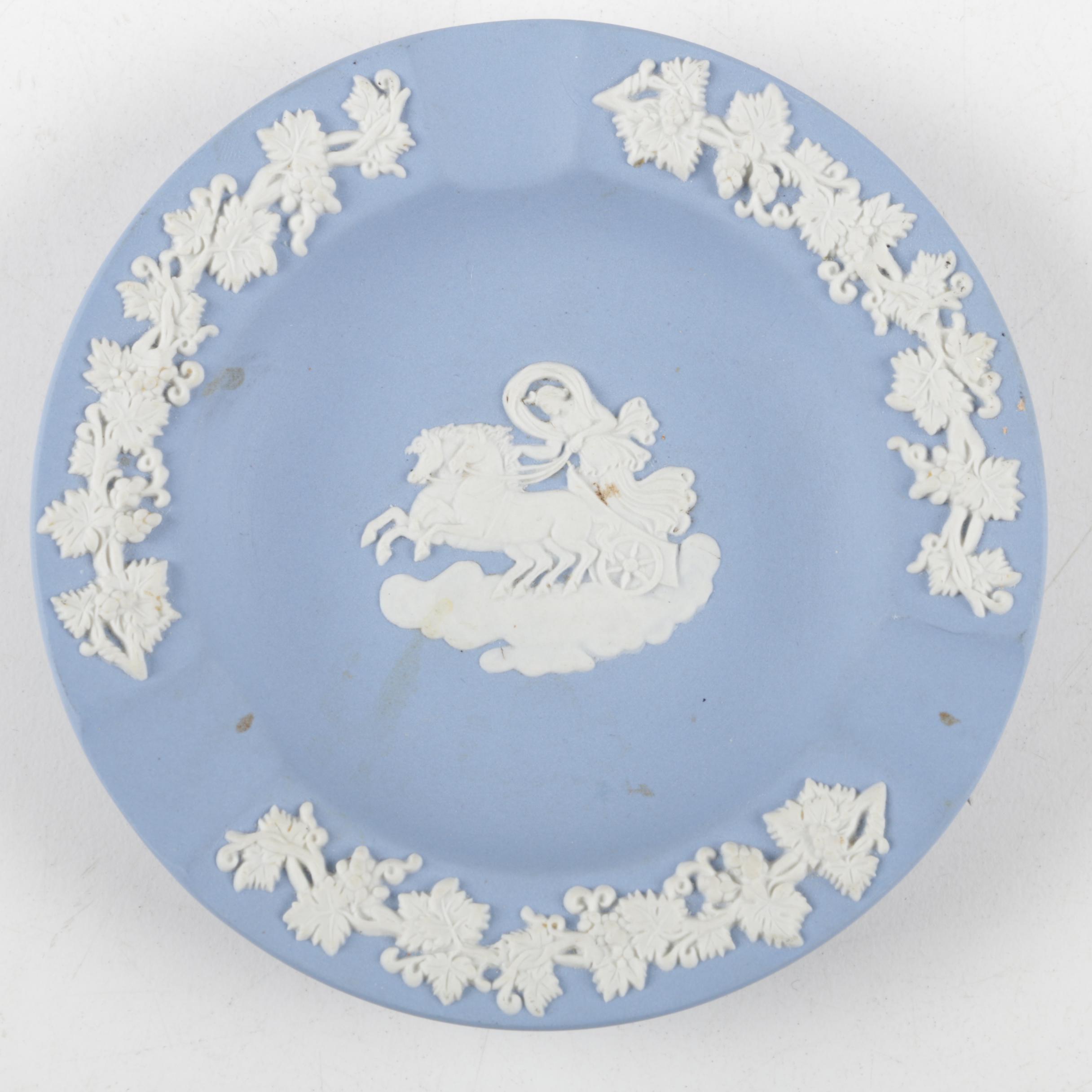 Wedgwood Blue Jasperware Ash Receiver