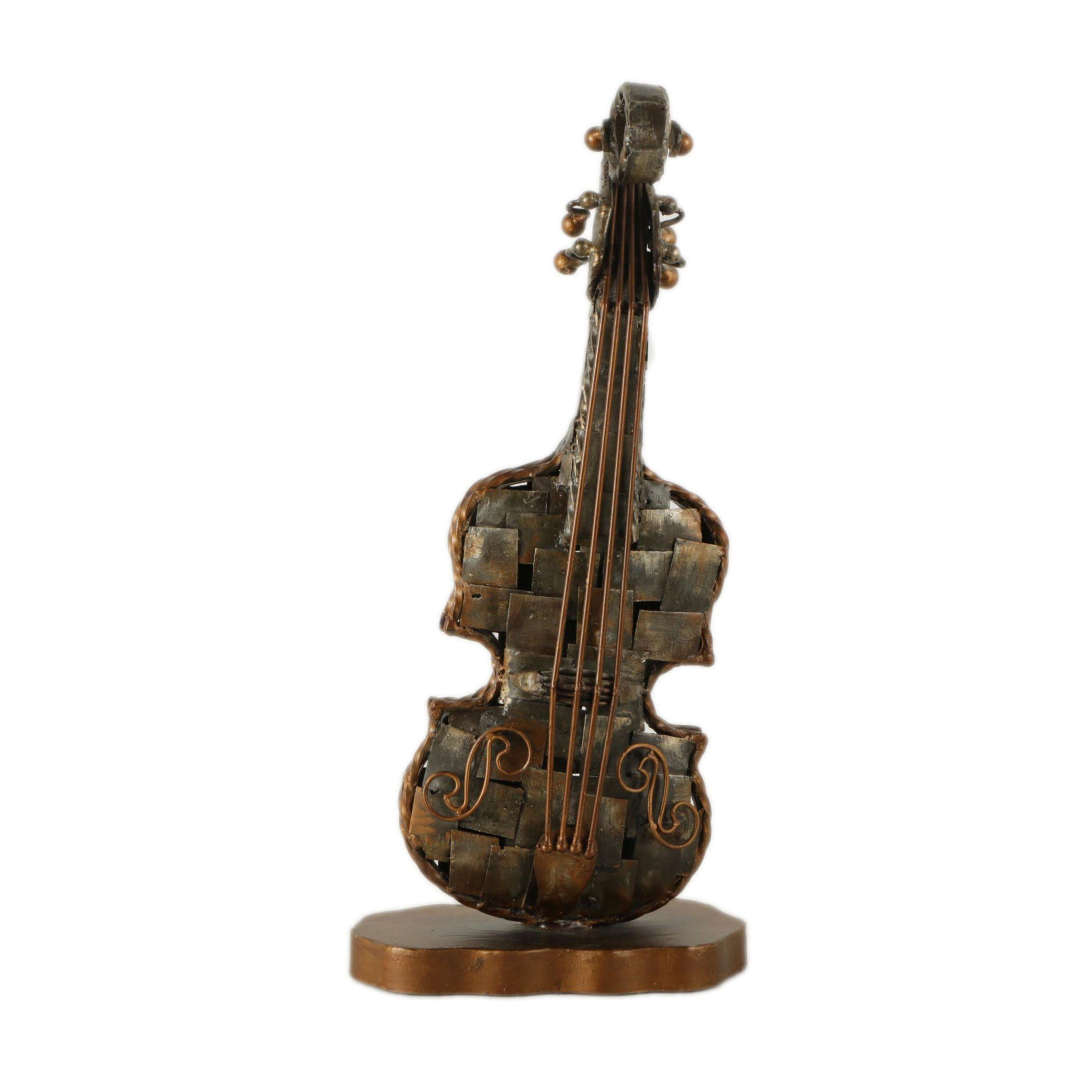 Artmax Painted Iron Alloy Sculpture of Violin