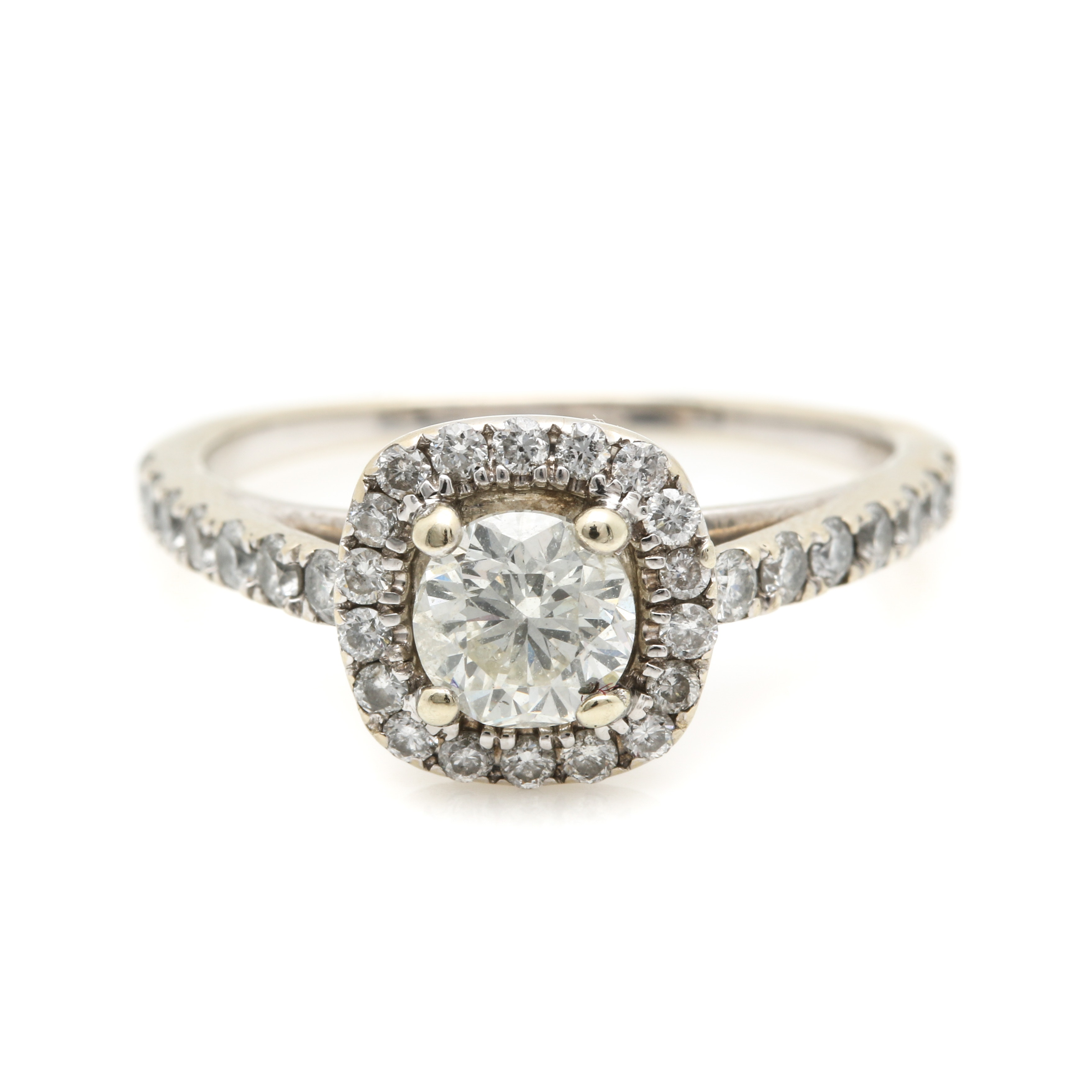 14K White Gold 1.36 CTW Diamond Ring