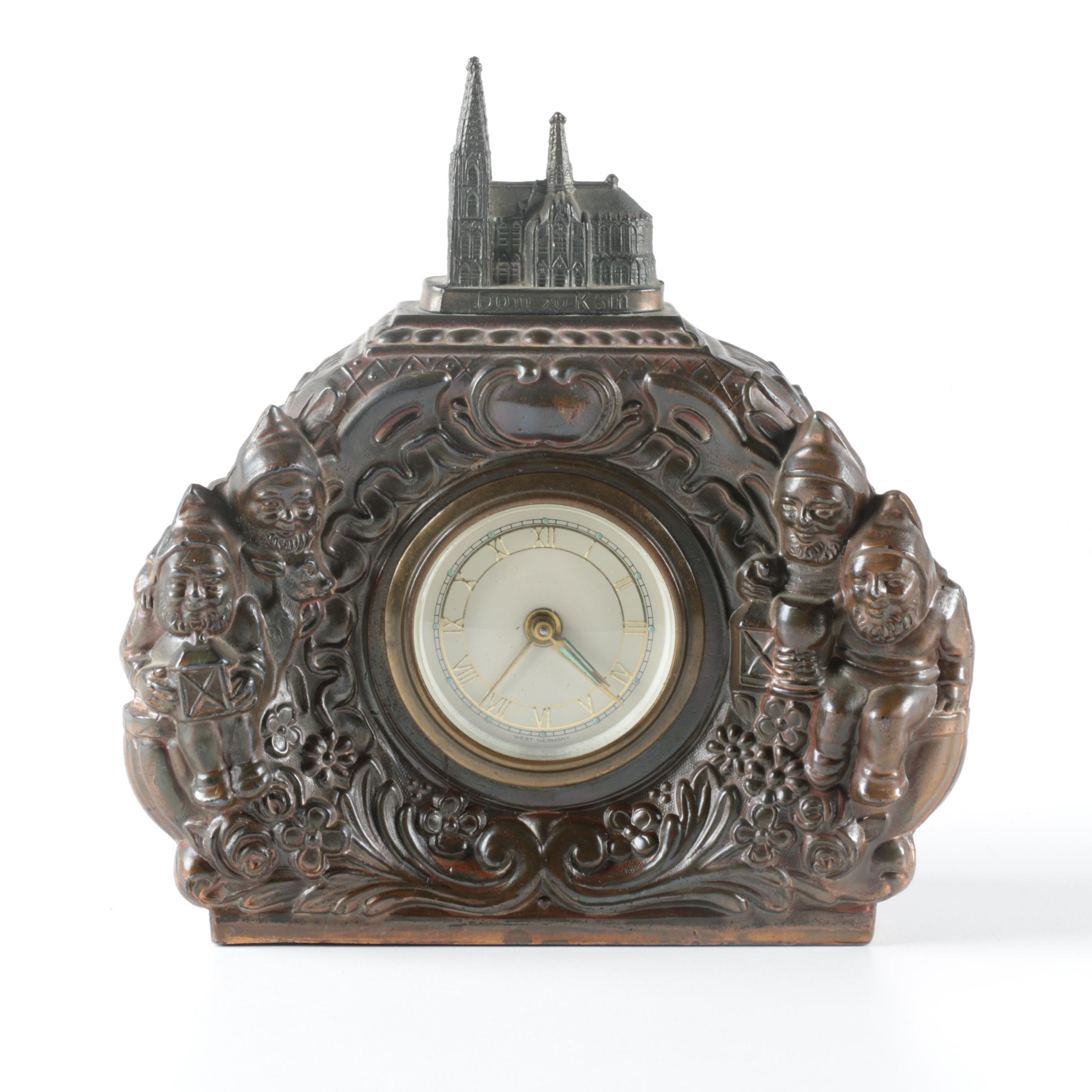 Vintage Gnome Ges Gesch German Novelty Clock