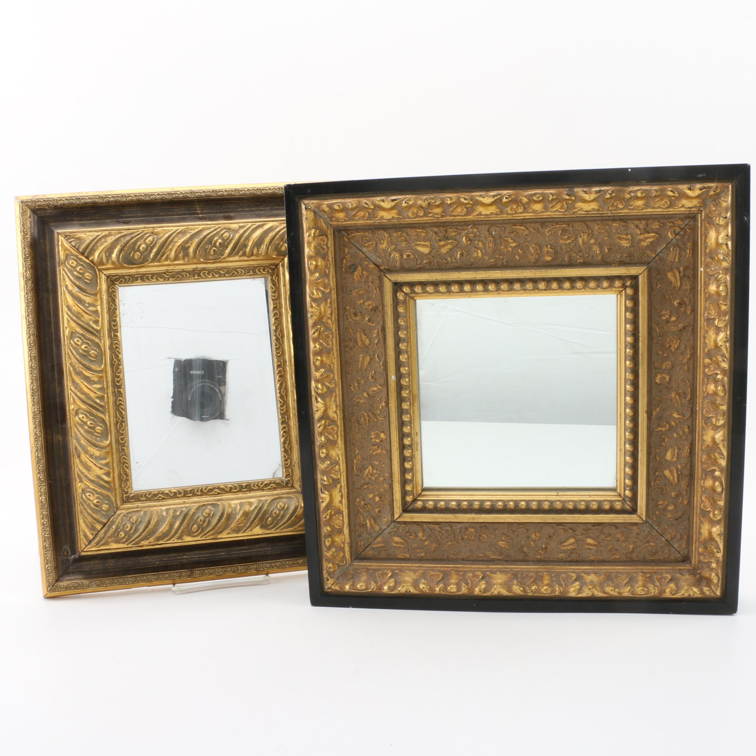 Gilded Wood Accent Mirrors