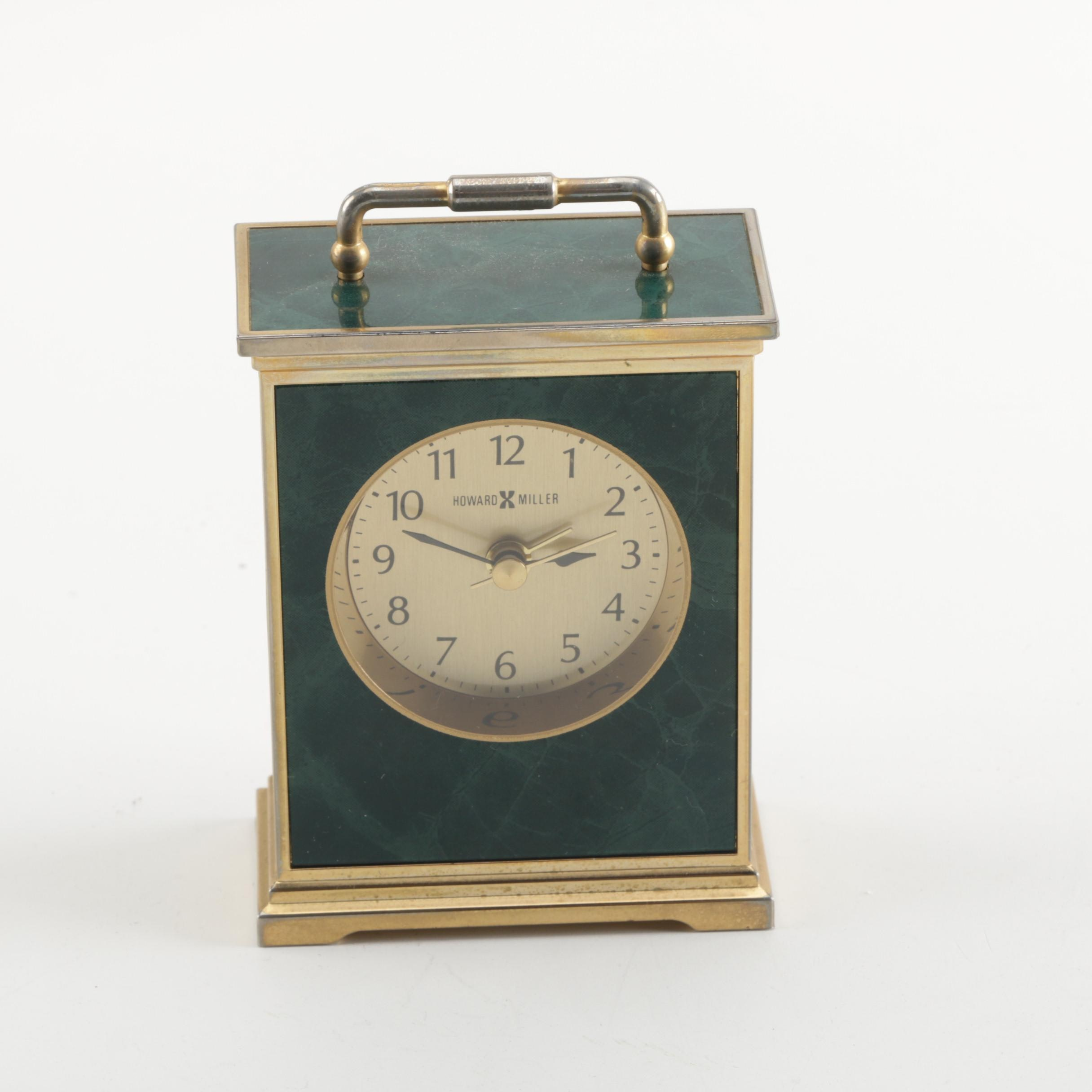 Howard Miller Miniature Brass  Mantle Clock