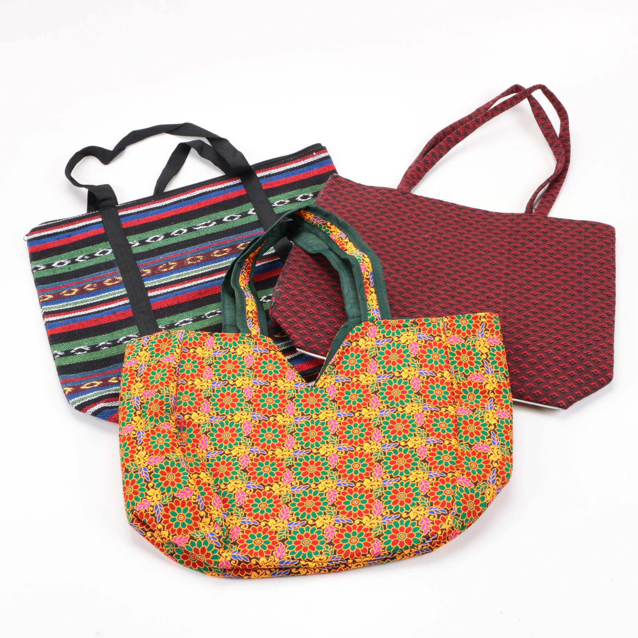Three Cloth Tote Bags
