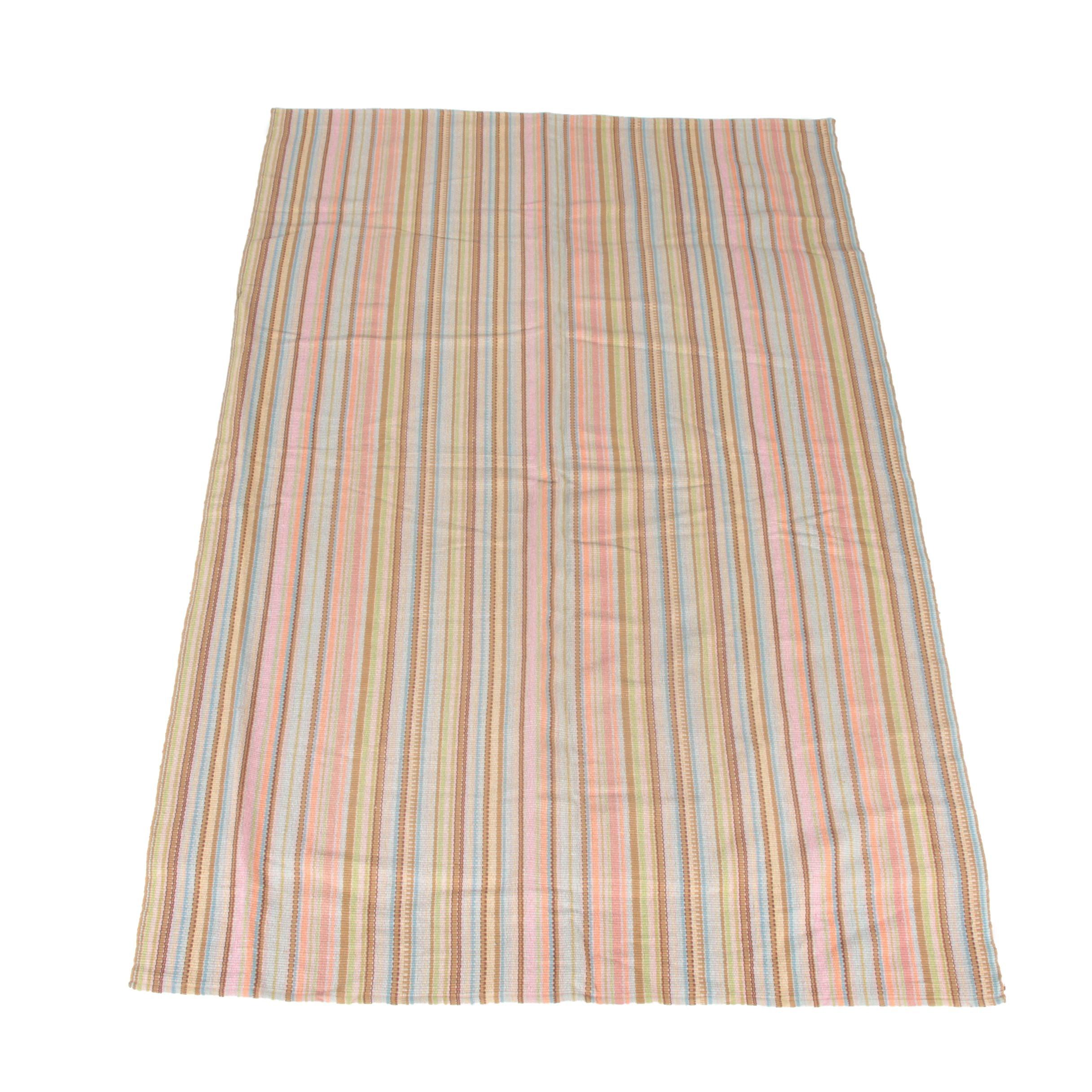 Handwoven Indian Dash & Albert Flatweave Cotton Area Rug