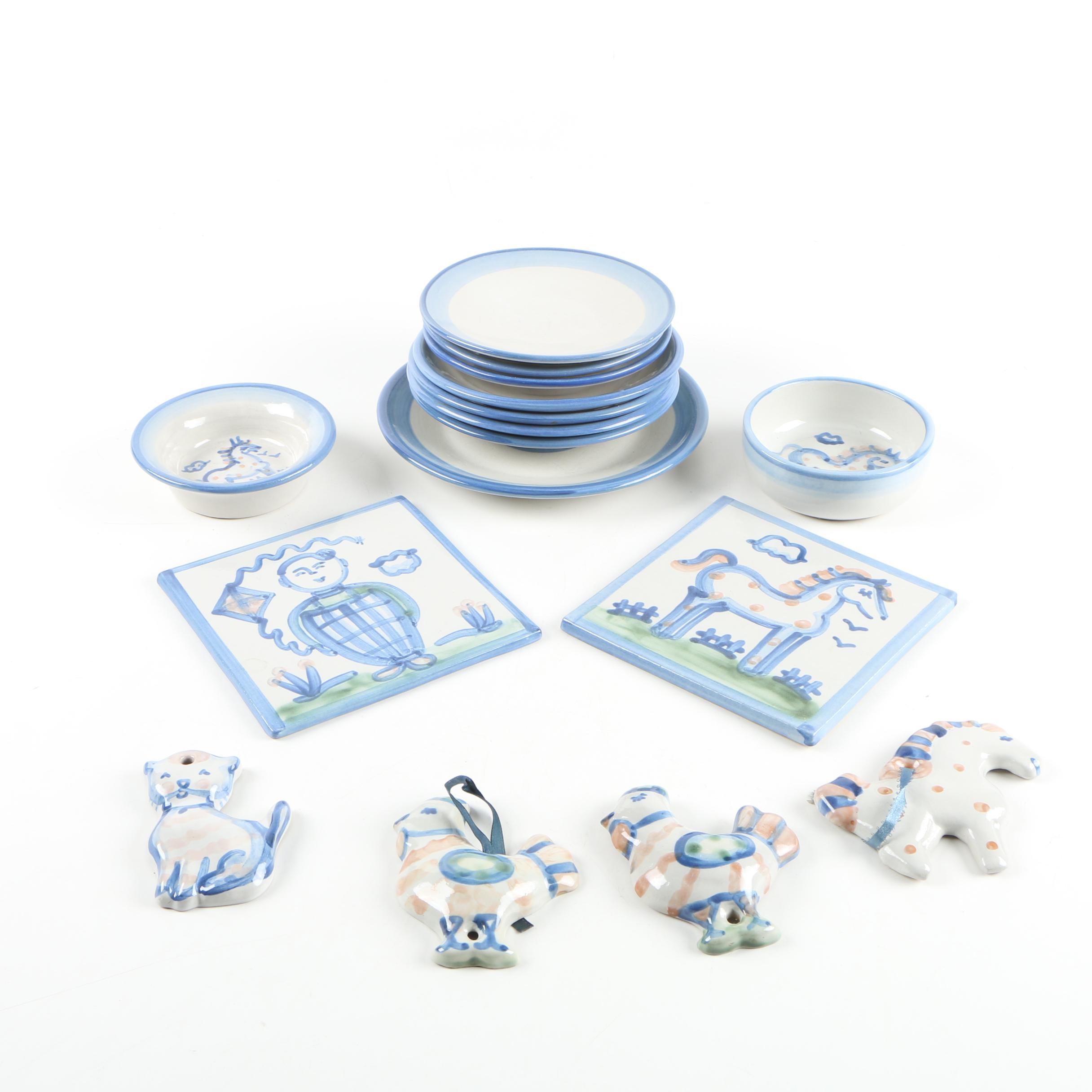 M. A. Hadley Hand Glazed Ceramic Tableware and Decor