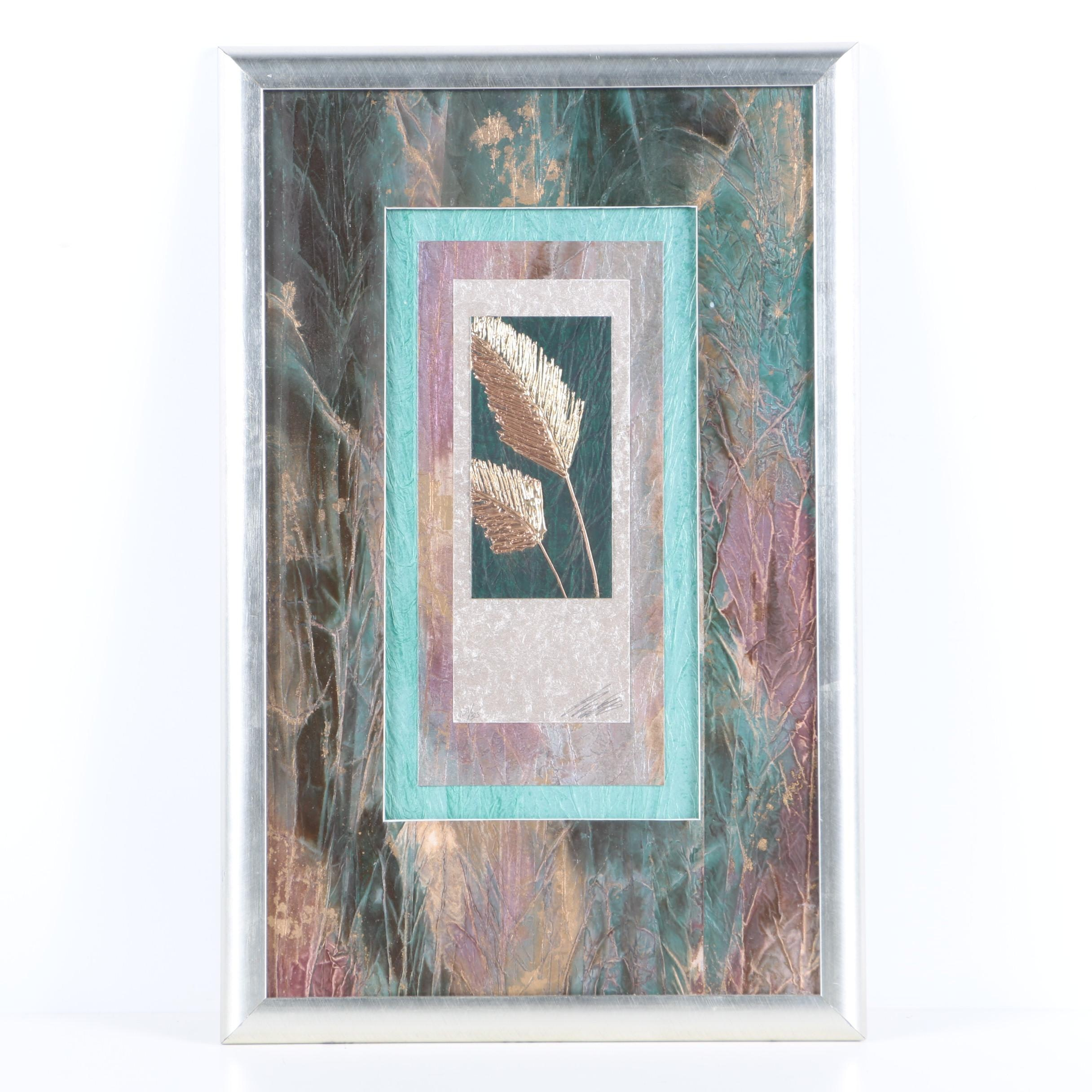 """Butler Limited Edition Mixed Media Print """"Pampas I"""""""