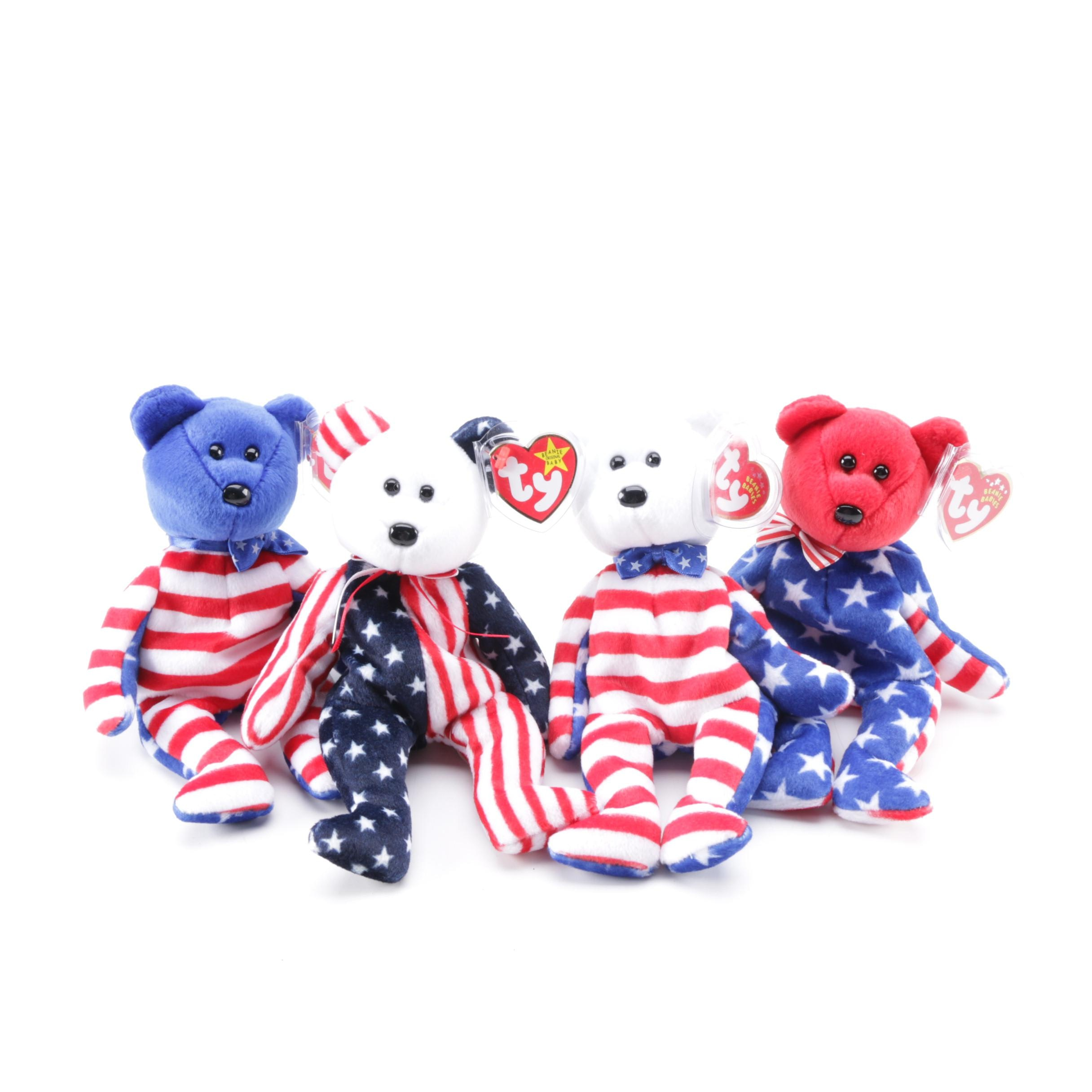 American Themed Beanie Baby Bears