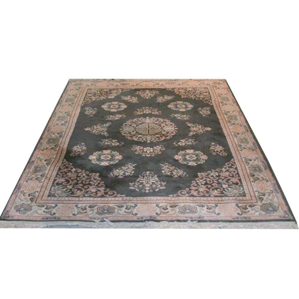 "Power-Loomed Trans-Ocean ""Genghis"" Wool Area Rug"