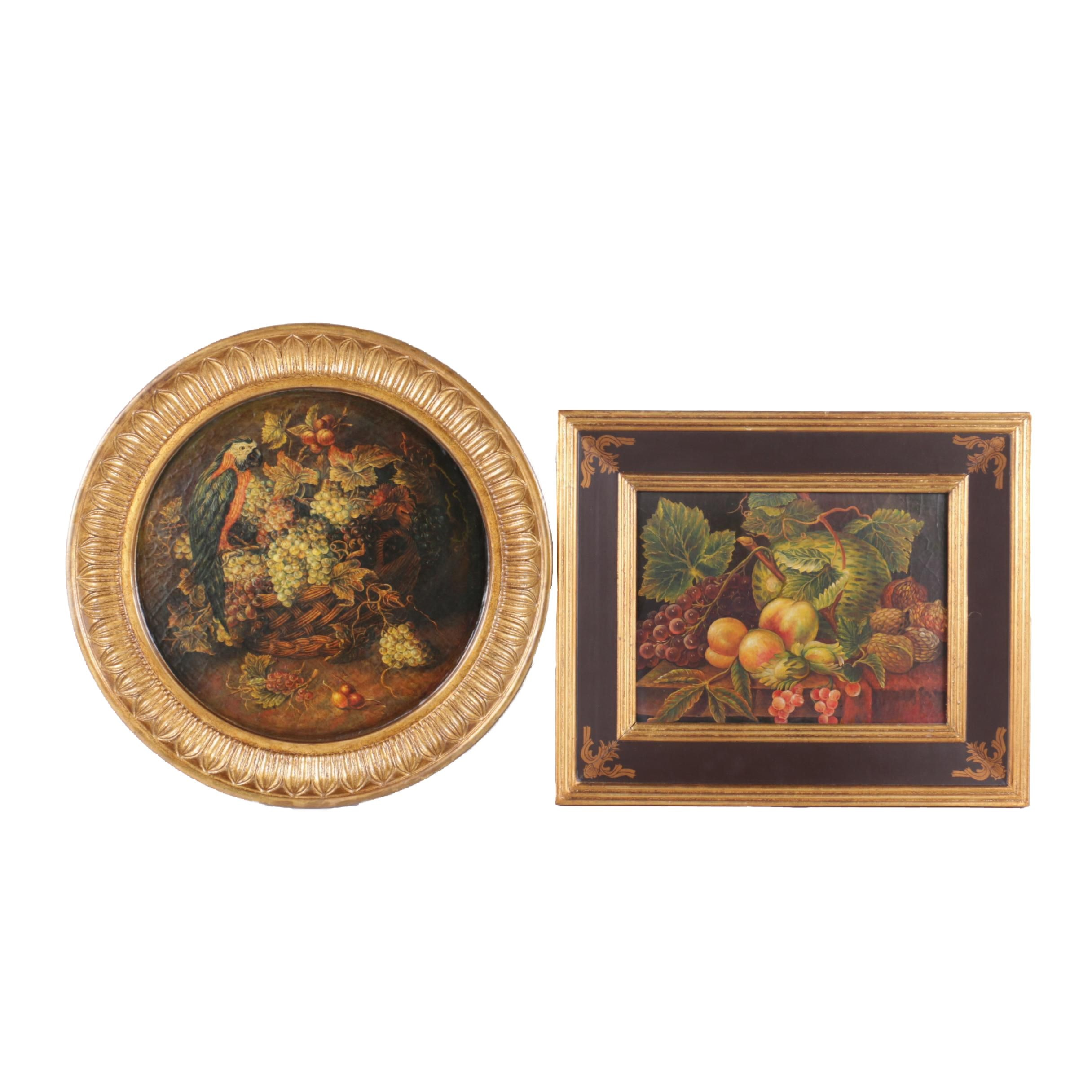 Decorative Reproduction Prints of Still Lifes on Panel