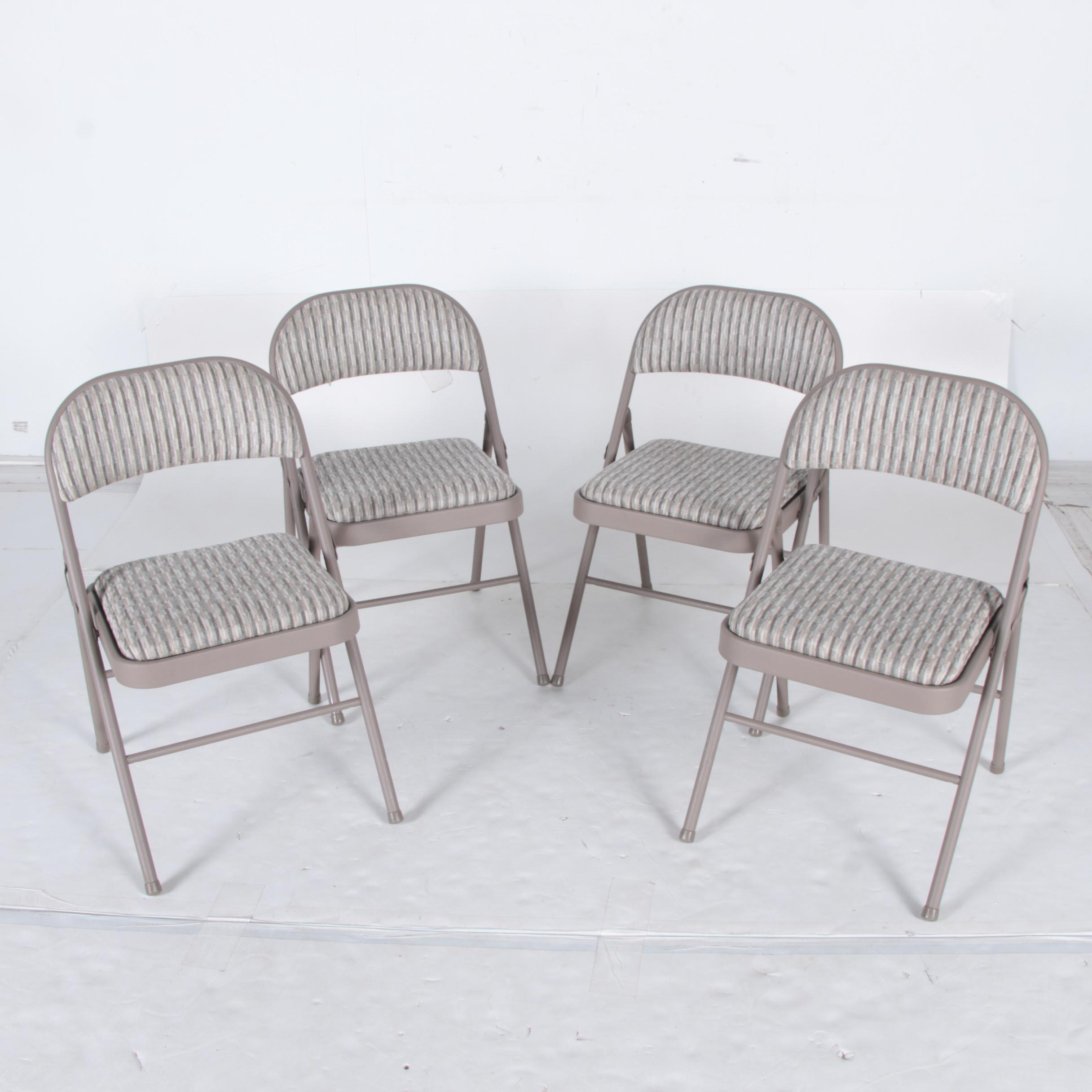 Set of Folding Metal Chairs