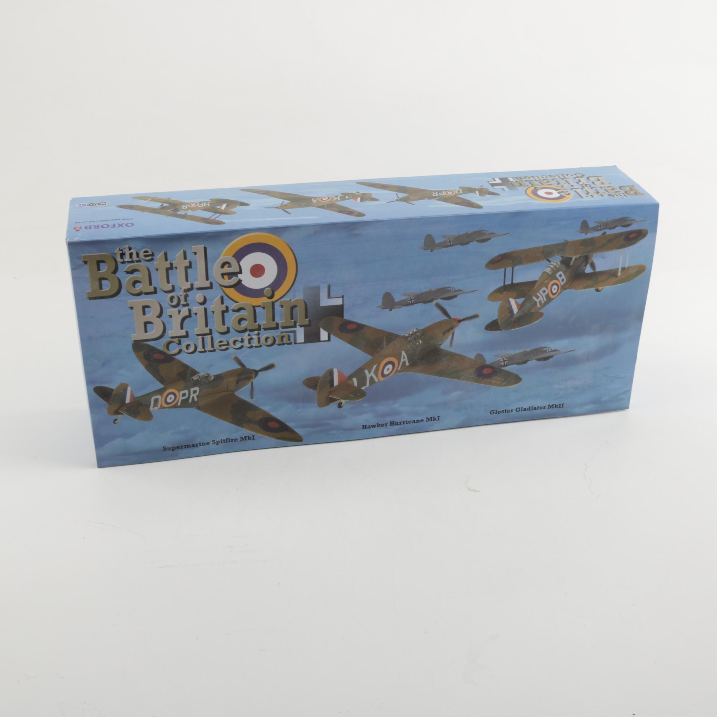Three Die-Cast WWII Airplanes In Original Box