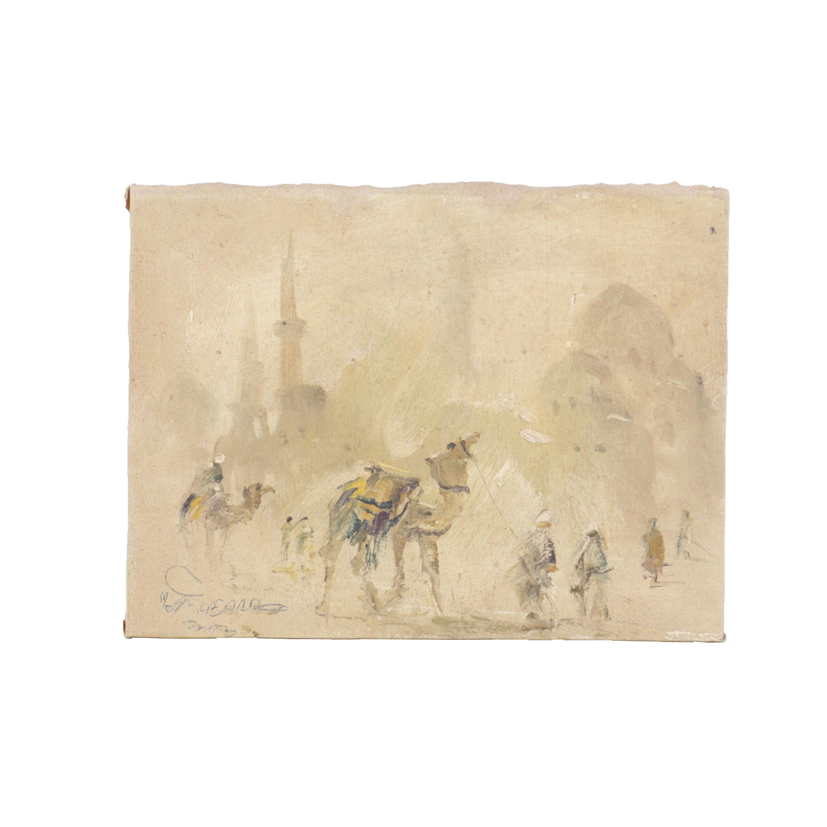 Oil Painting on Canvas of Desert Scene
