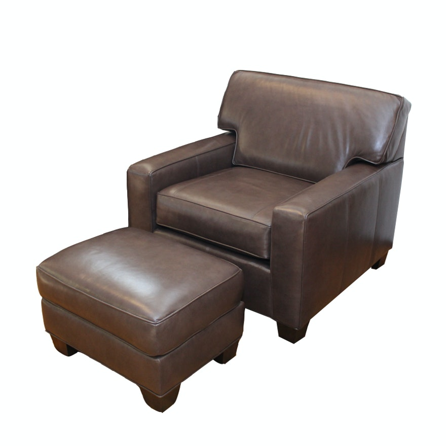 Norwalk Leather Sofa: Norwalk Furniture Leather Armchair And Ottoman