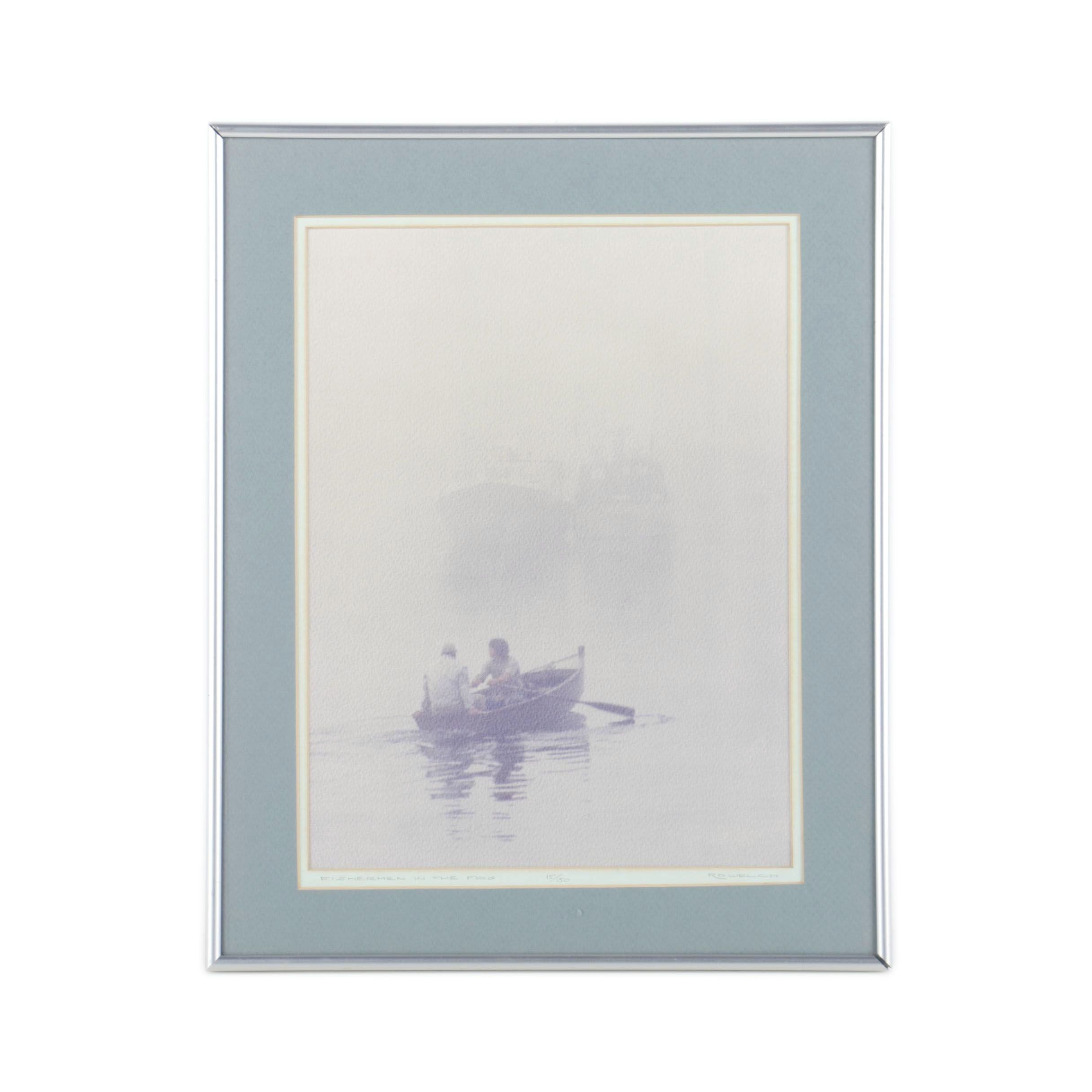 """R.D. Welch Limited Edition Reproduction Print """"Fishermen in the Fog"""""""