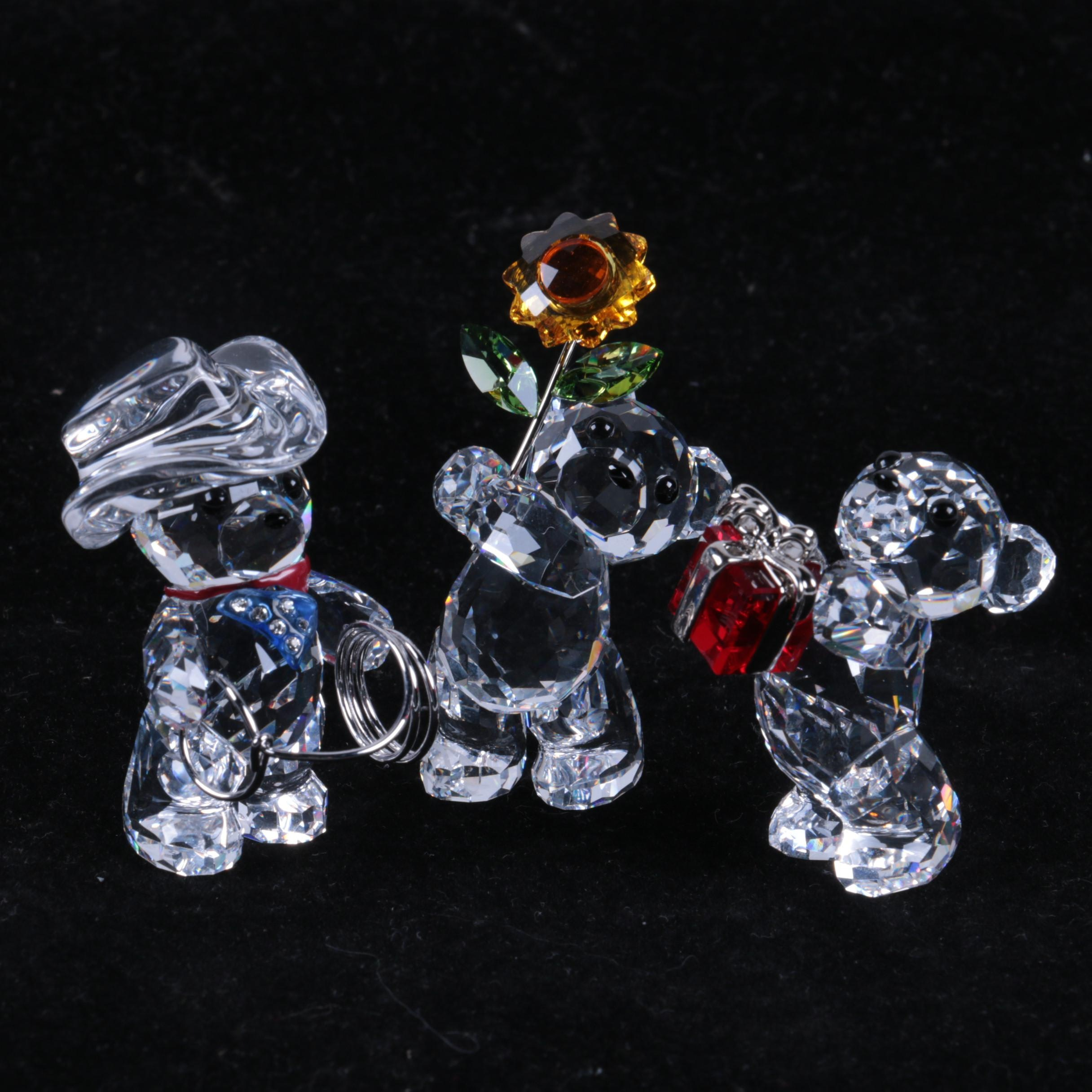 Collection of Swarovski Crystal Bear Figurines