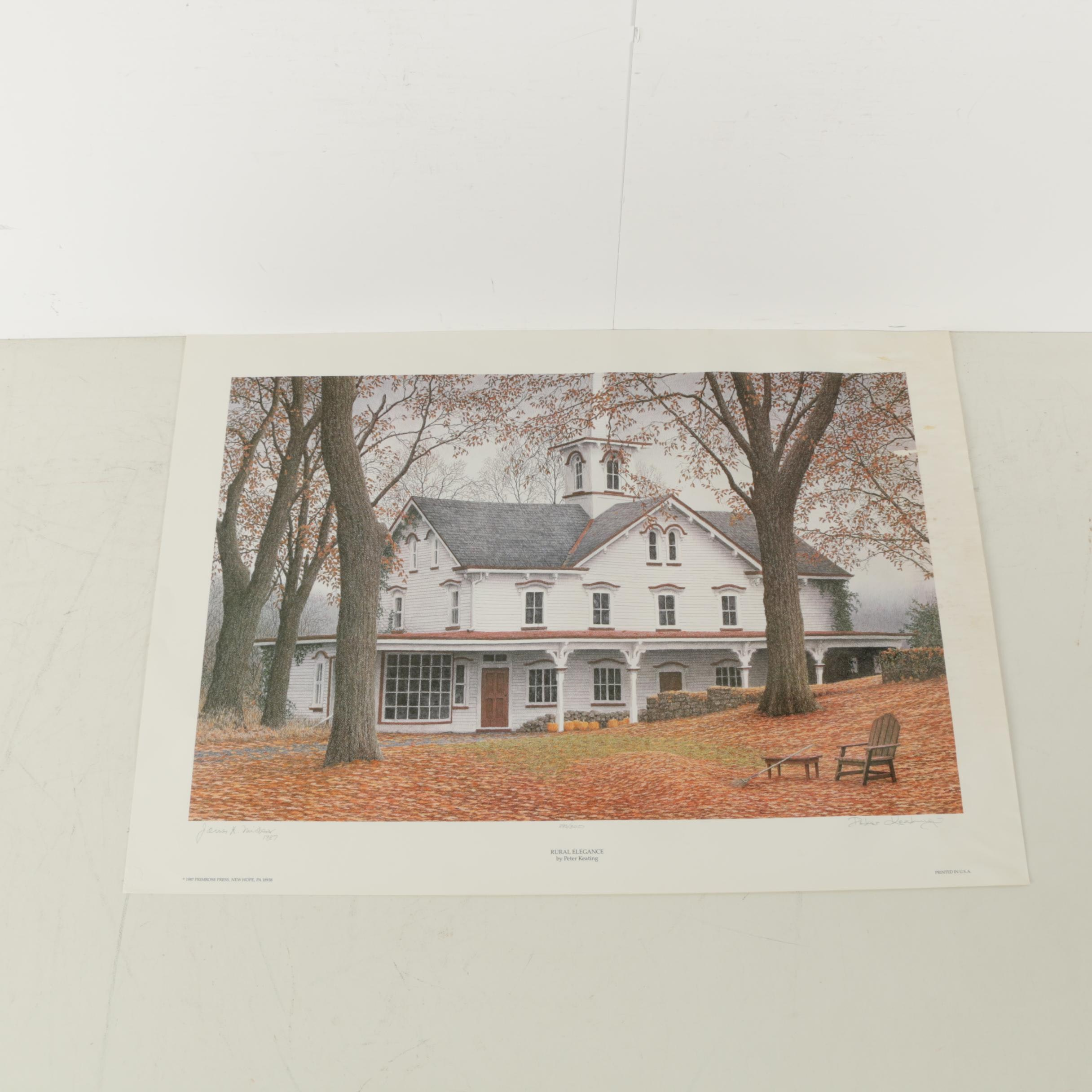 "Peter Keating Limited Edition Offset Lithograph ""Rural Elegance"""