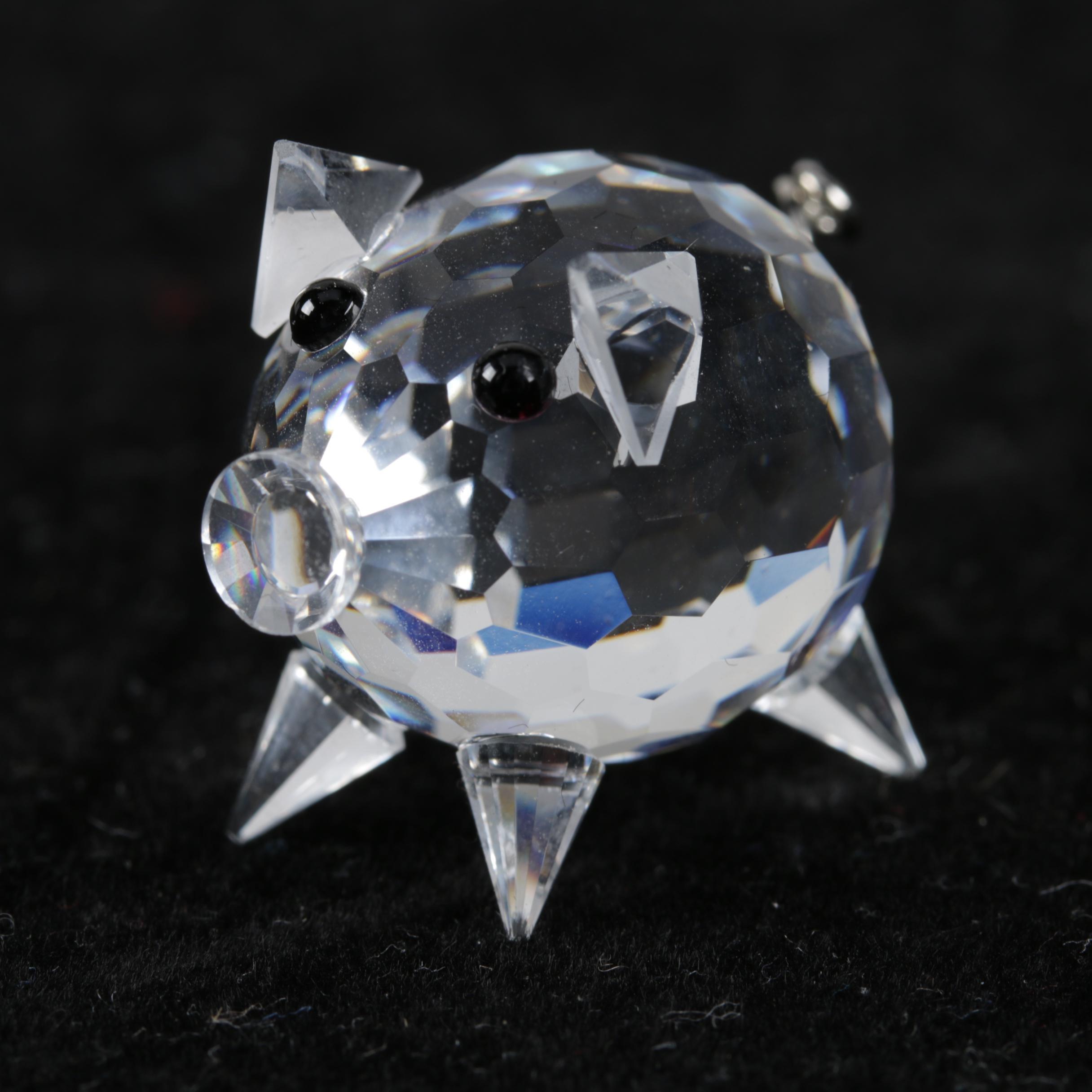 Swarovski Crystal Pig Figurine