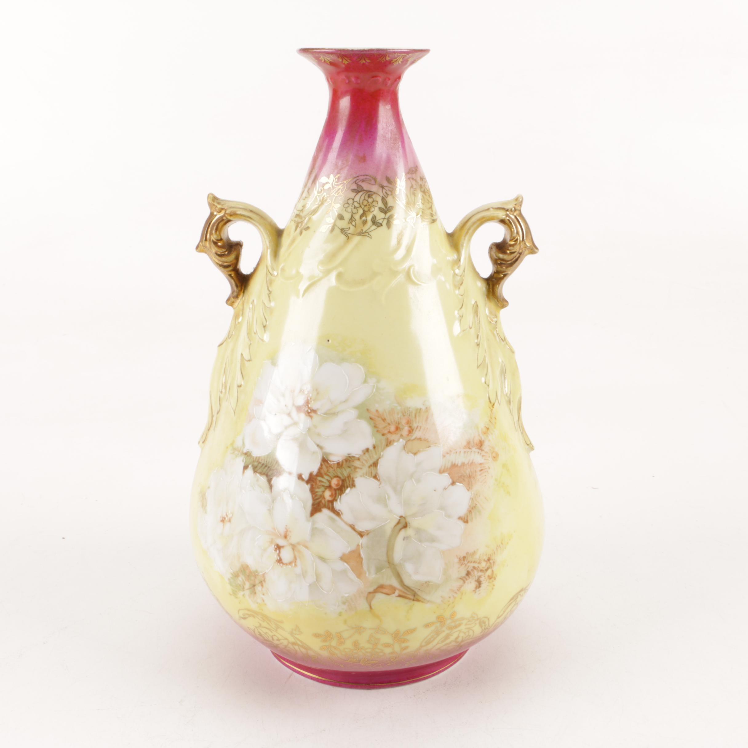 Antique Royal Saxe Porcelain Vase