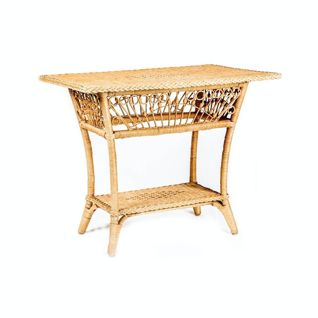 Wicker Side Table by Ralph Lauren