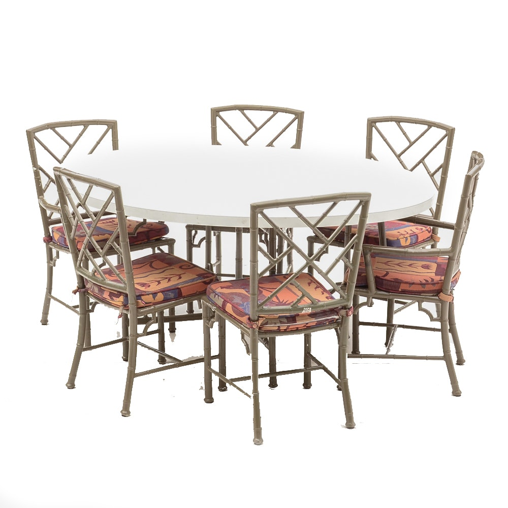 Vintage Chinese Chippendale Style Dining Set
