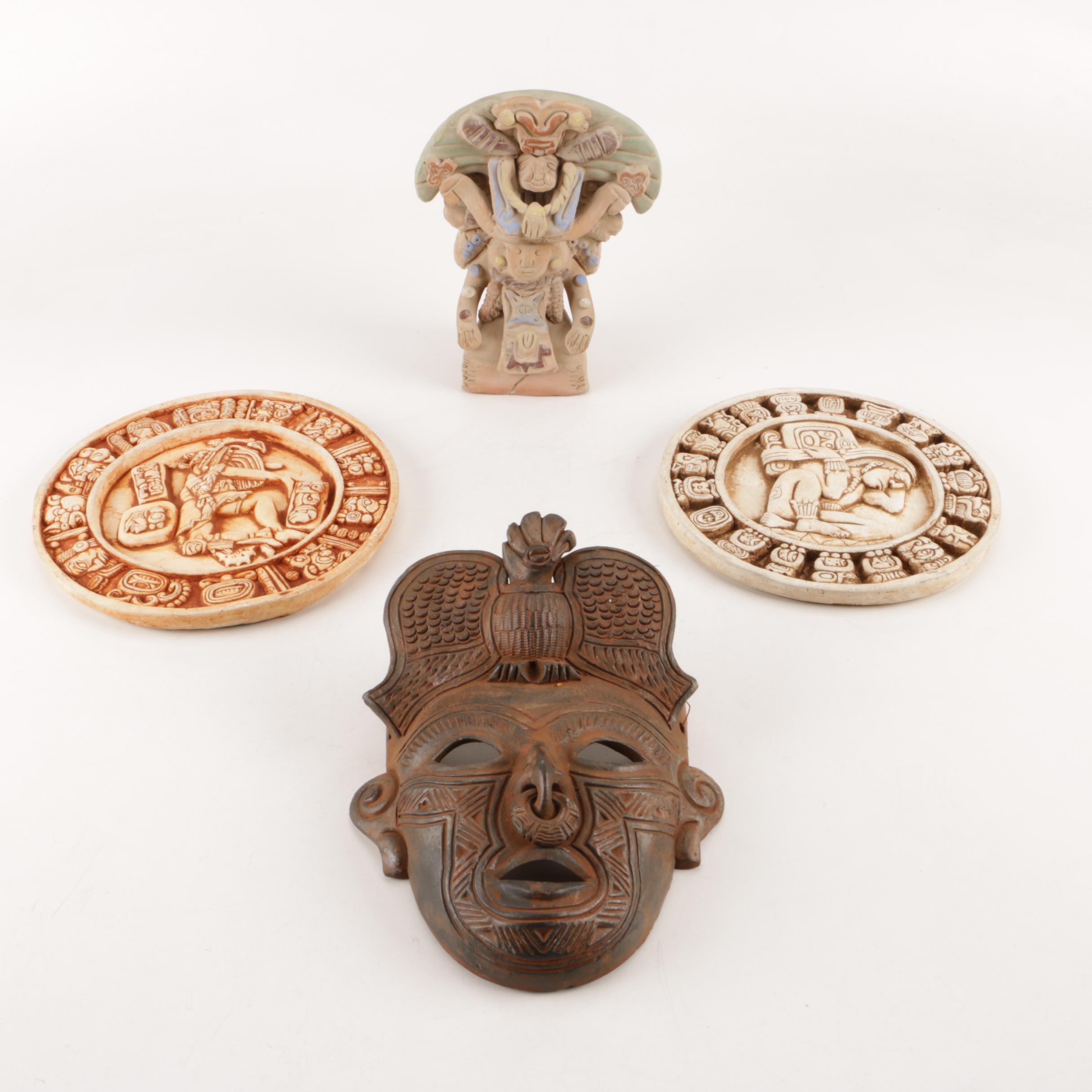 Aztec Inspired Ceramic Decor
