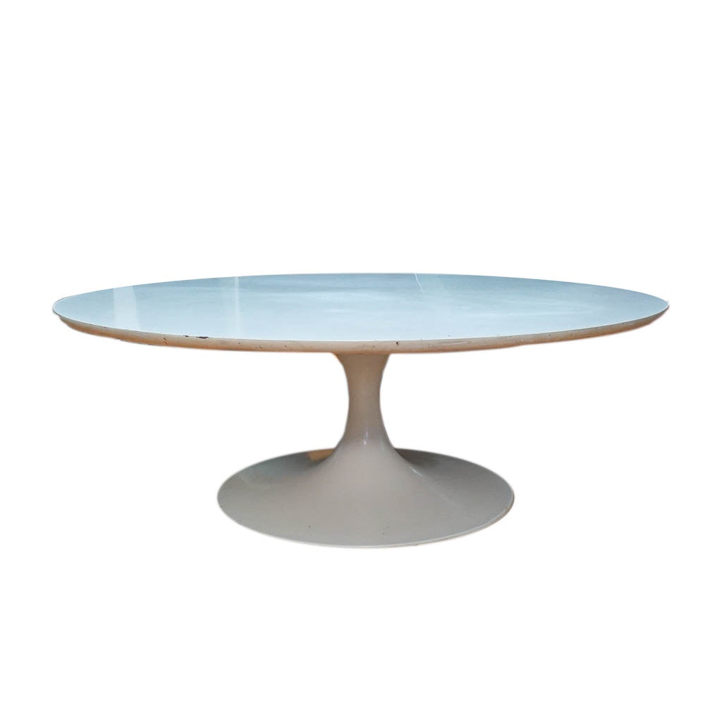 1960s White Tulip Style Coffee Table