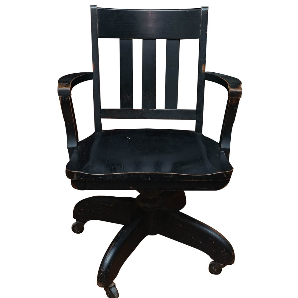 Vintage 1920s Rolling Office Chair by Murphy