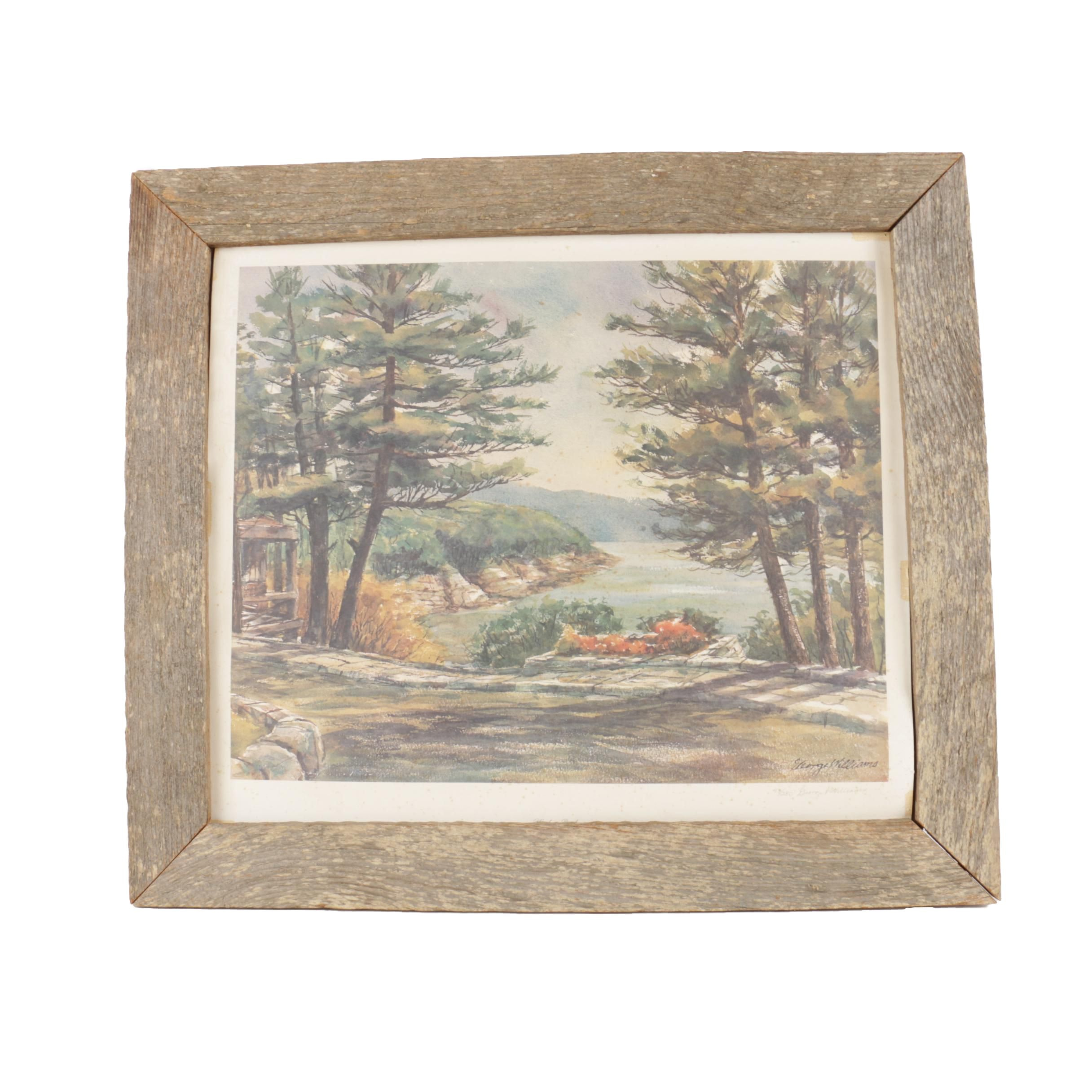 """George Williams Limited Edition Offset Lithograph Print """"Woodson Bend"""""""