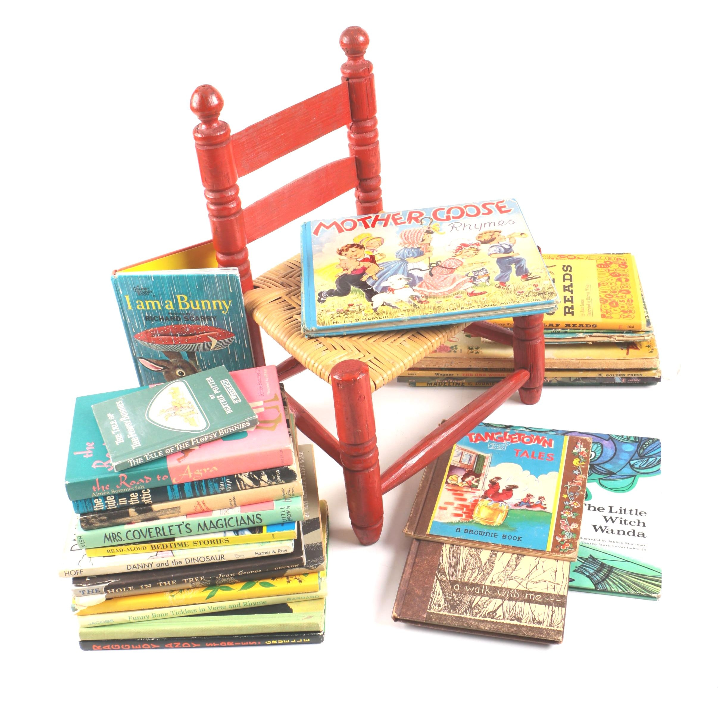 Children's Chair and Books