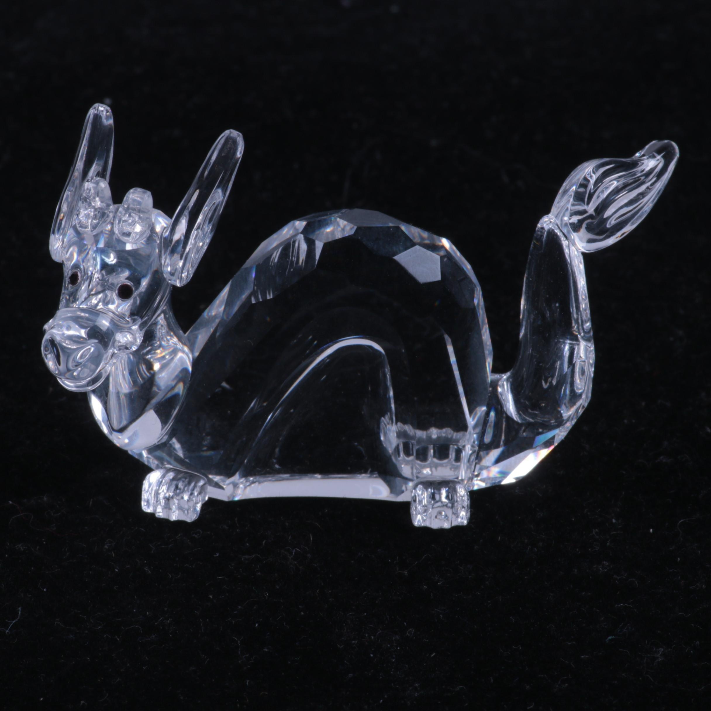 Swarovski Crystal Dragon Figurine