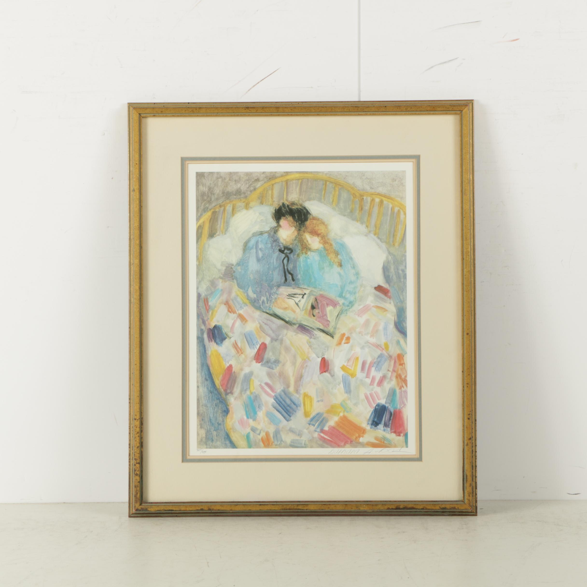 "Barbara A. Wood Limited Edition Reproduction Print on Paper ""The Comforter"""