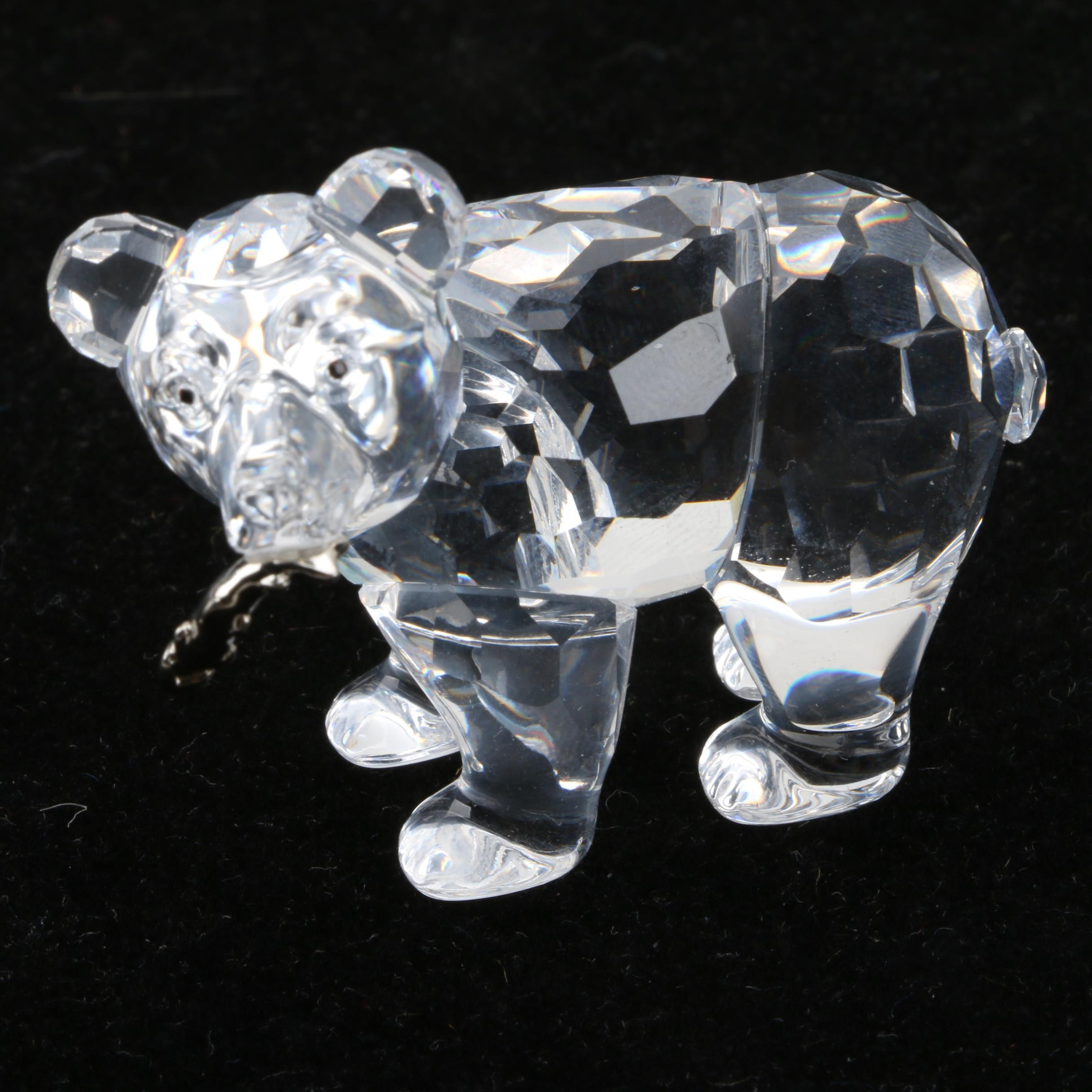 Swarovski Crystal Grizzly Bear Figurine