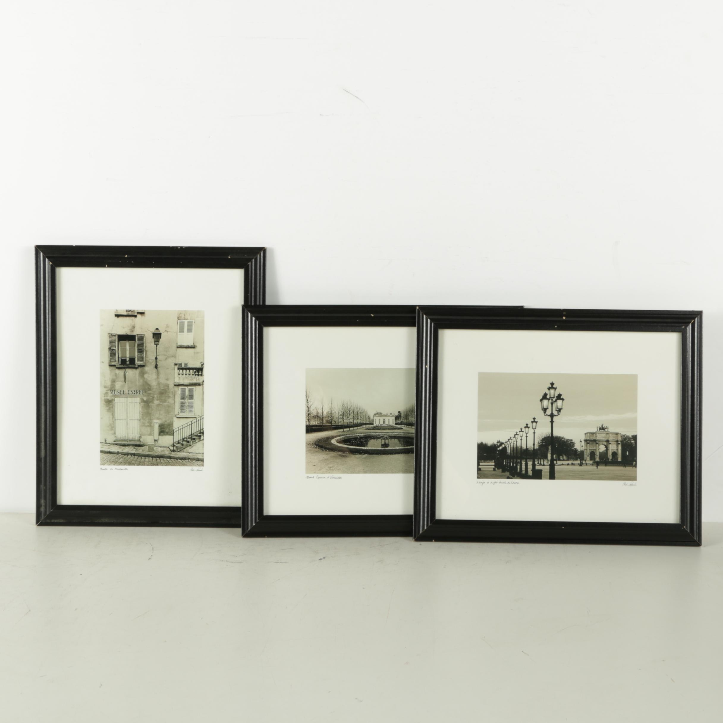 Three Reproduction Prints After Photographs of France