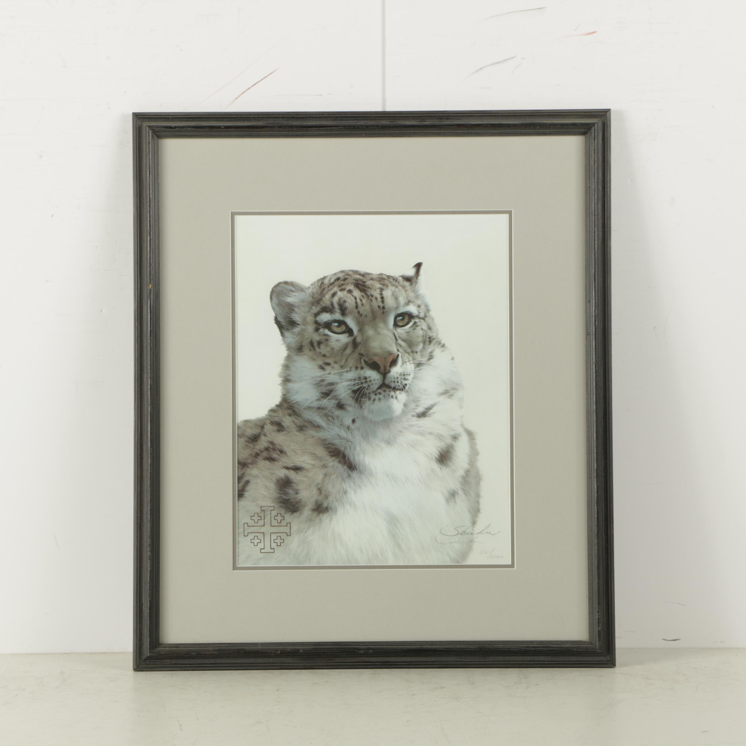 """Peter Skirka Limited Edition Reproduction Print """"Snow Leopard"""""""