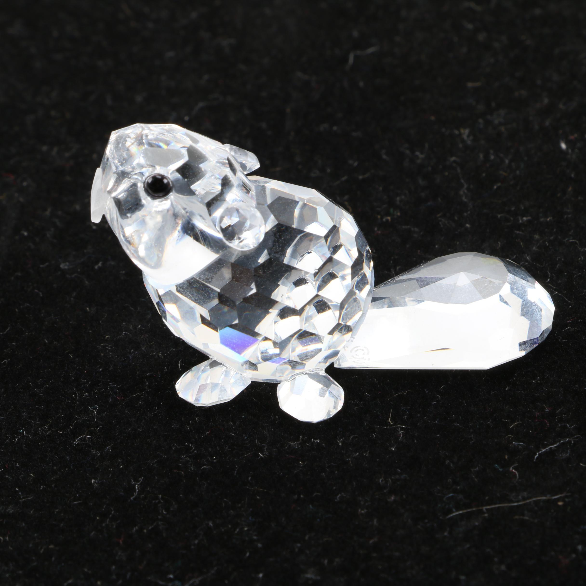 Swarovski Crystal Beaver Figurine