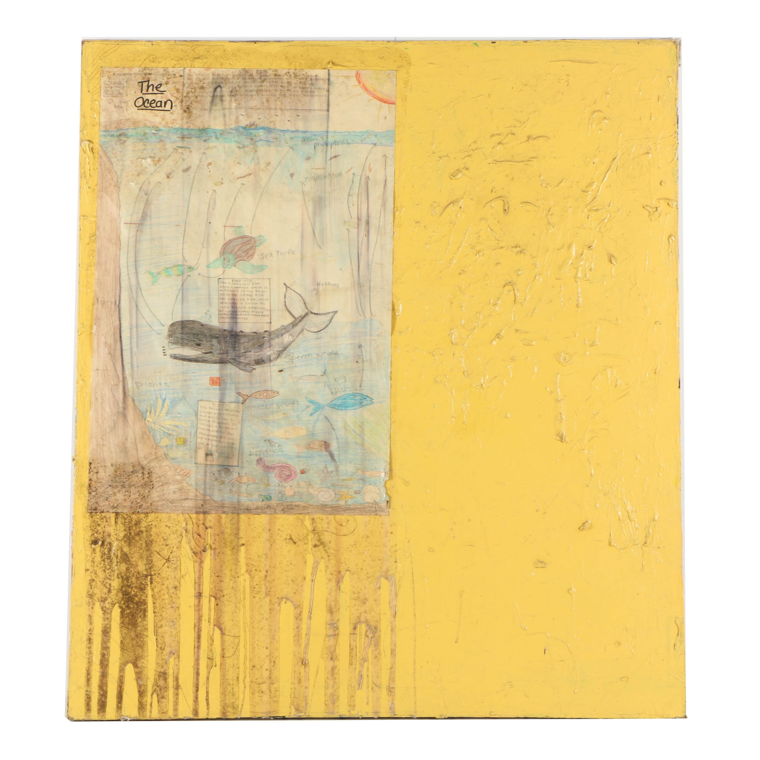 "Dustin Yellin Mixed Media Collage ""Wail School"""