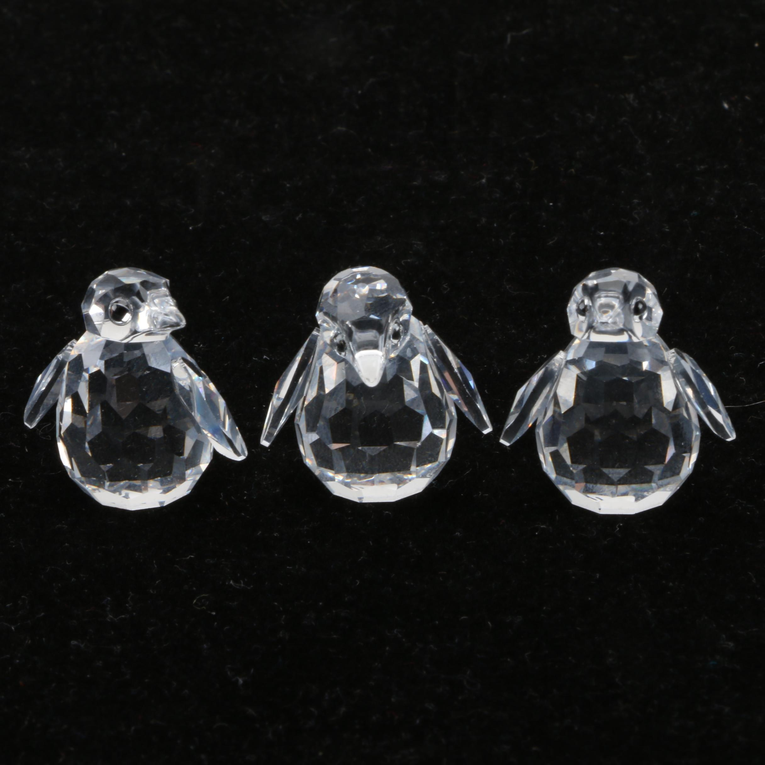 Swarovski Crystal Penguin Figurines