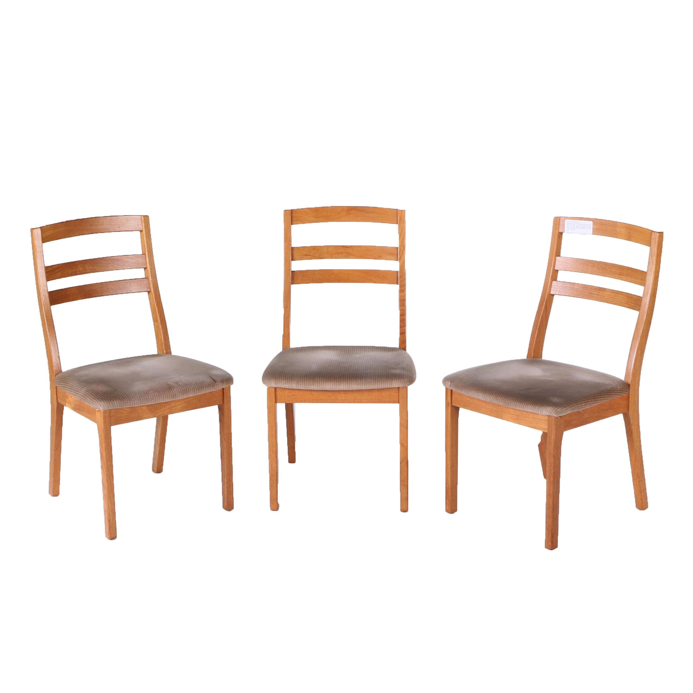 Three Mid Century Modern Teak Dining Chairs by Nathan Furniture
