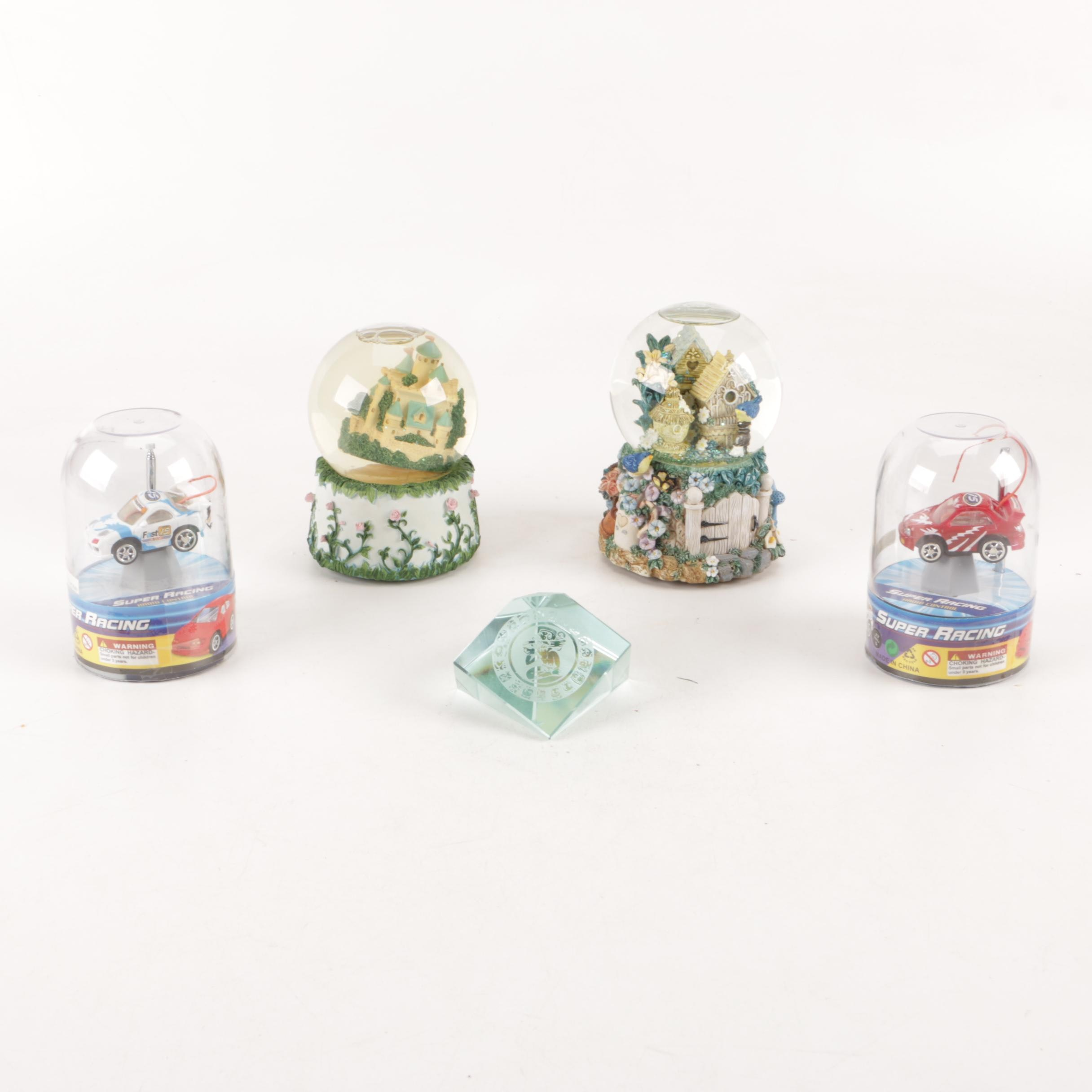 San Francisco Music Box Company Snow Globes, Paperweight, And Toy Cars
