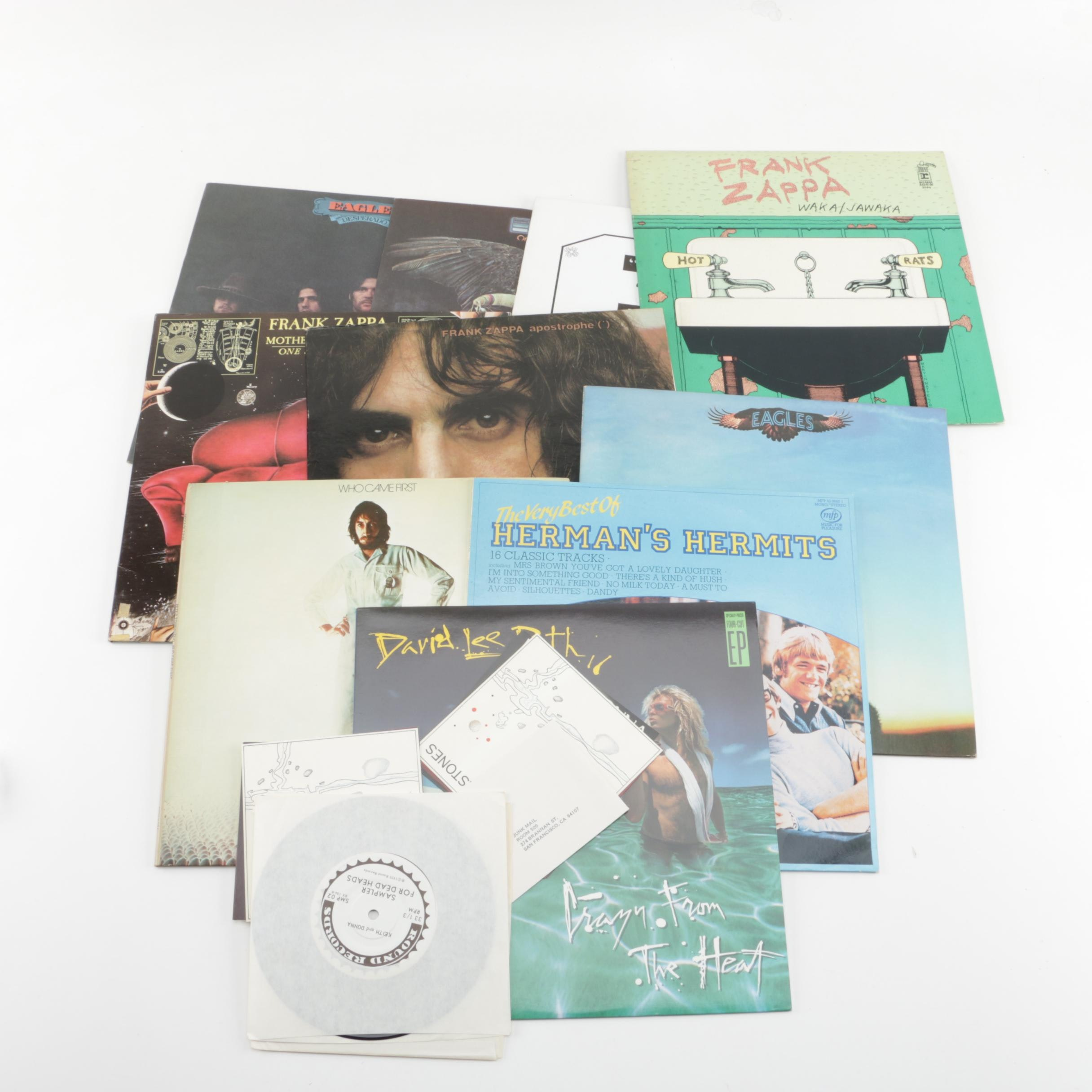 Collection of LP Records with 45 rpm Sampler