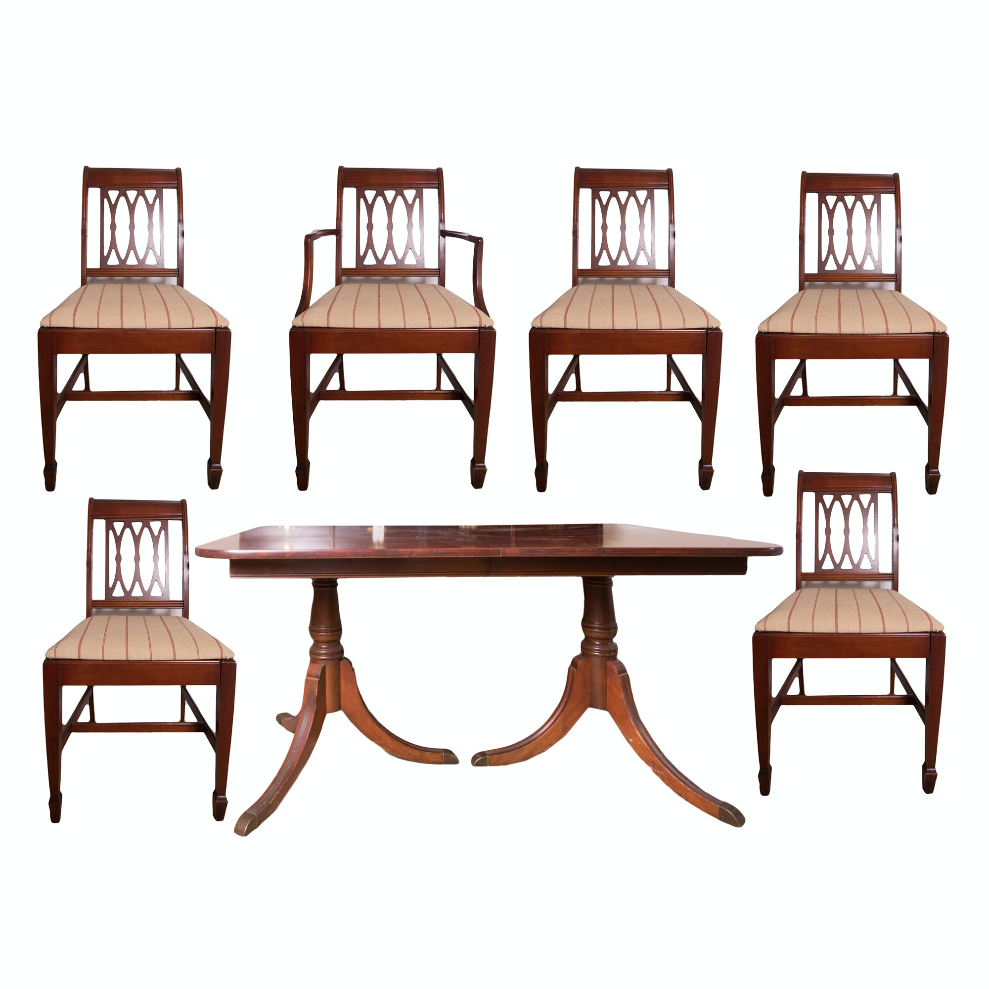 Duncan Phyfe Style Dining Table and Chairs