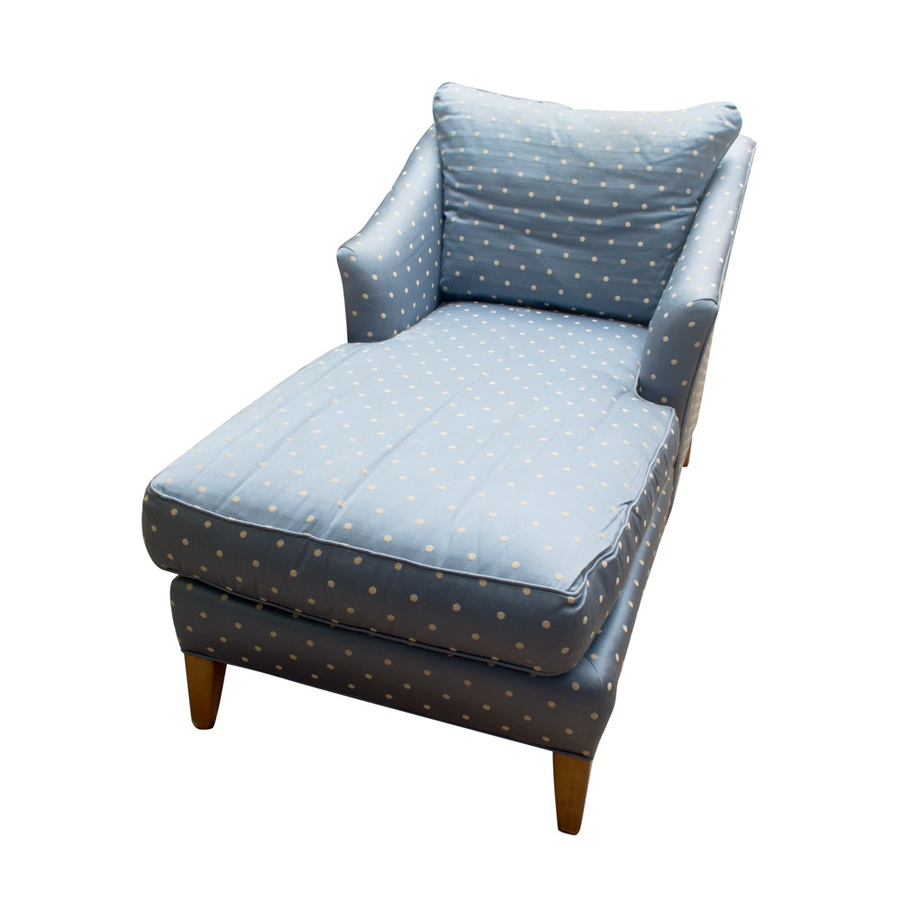 Upholstered Chaise Lounge Chair by Ethan Allen