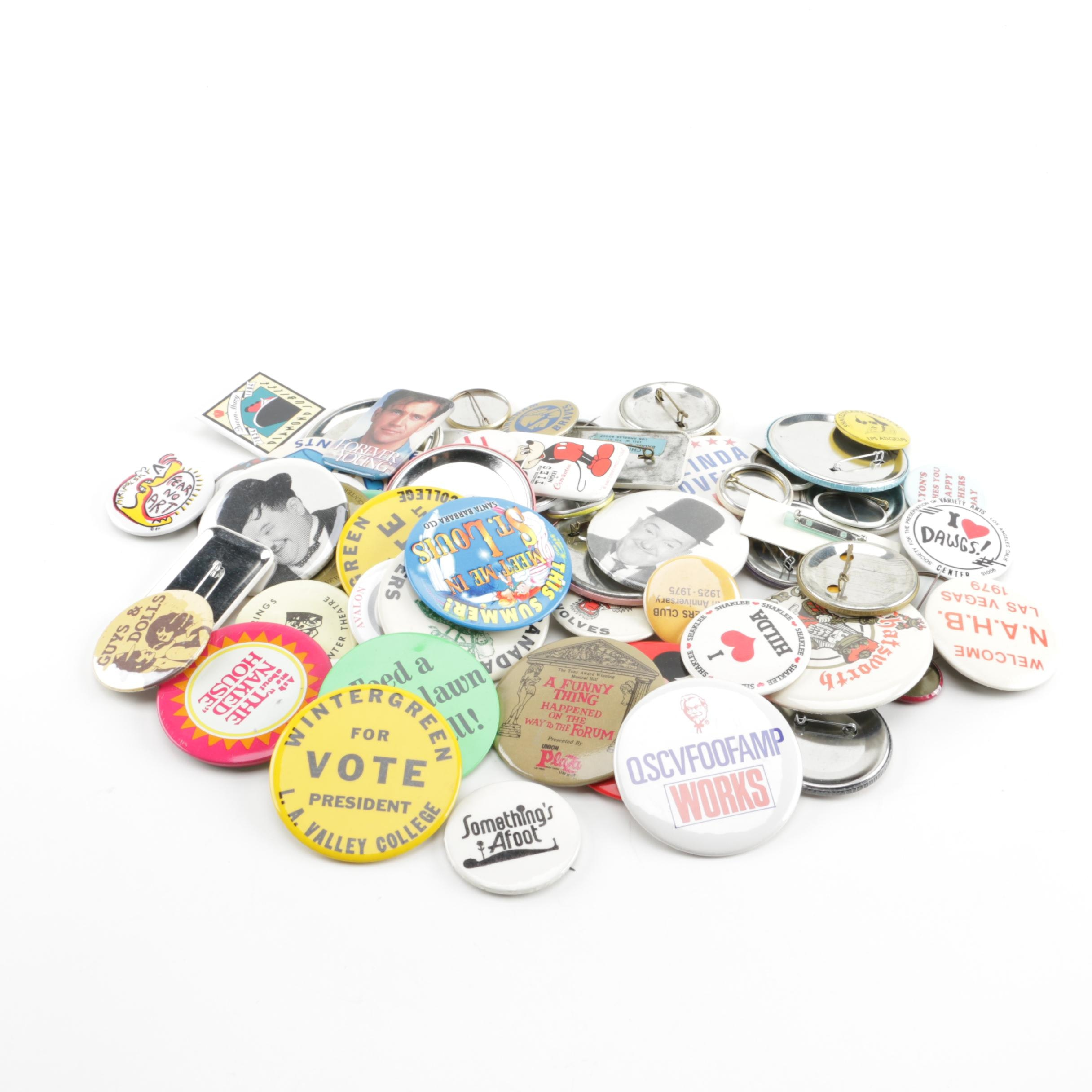 Collection of Pinback Buttons