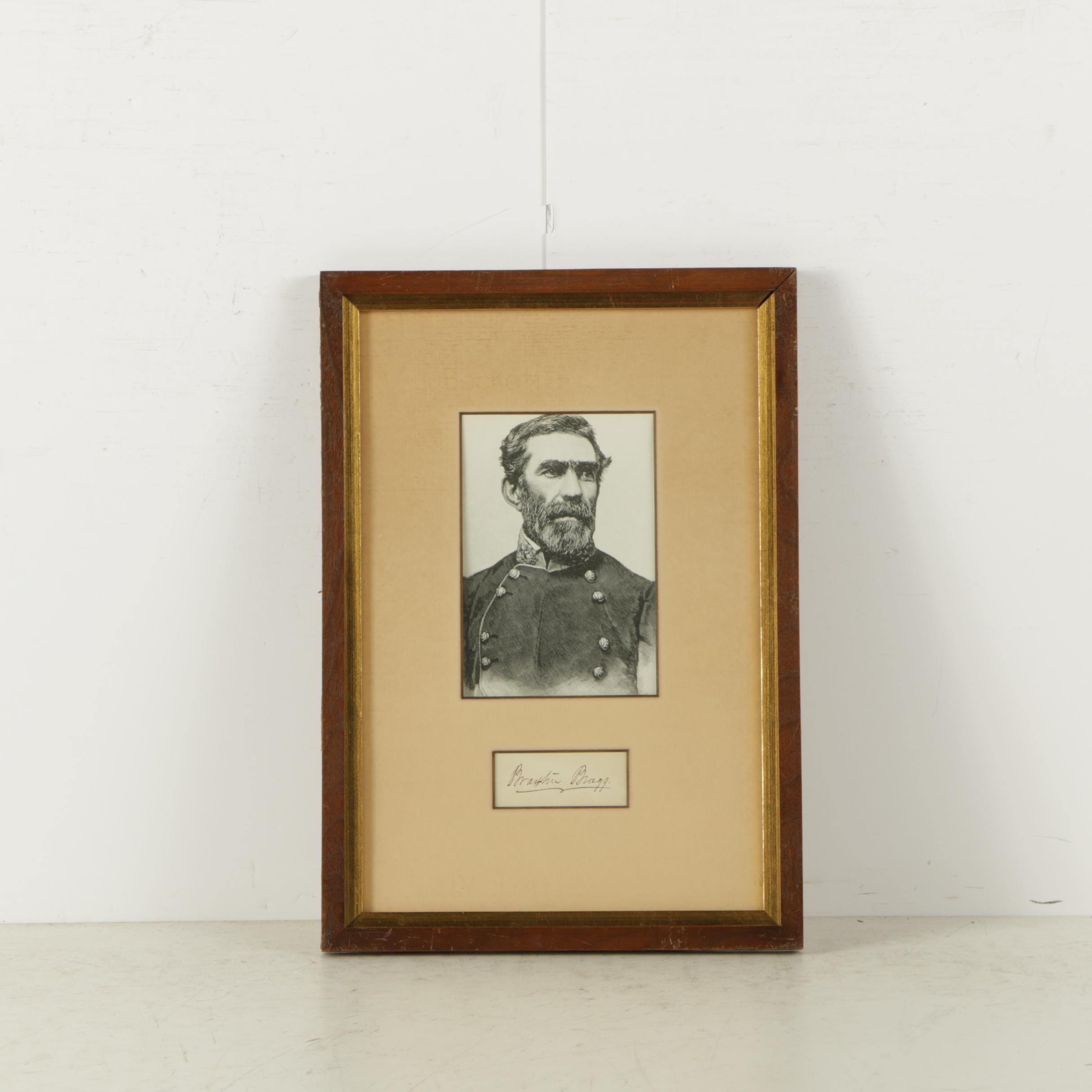 Engraving After Photograph of Braxton Bragg