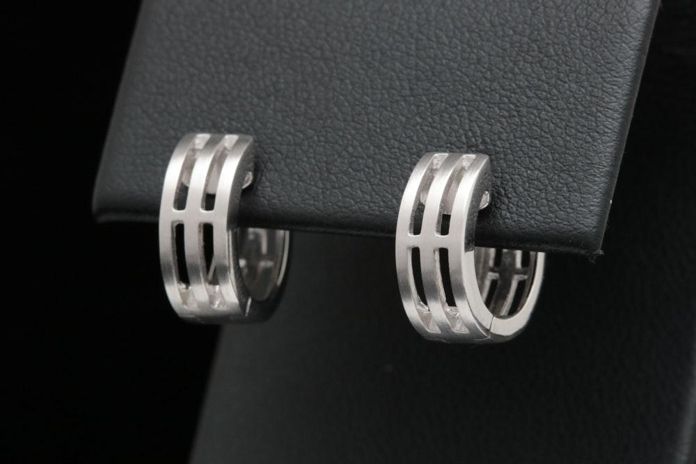 Bastian Sterling Silver Huggie Earrings